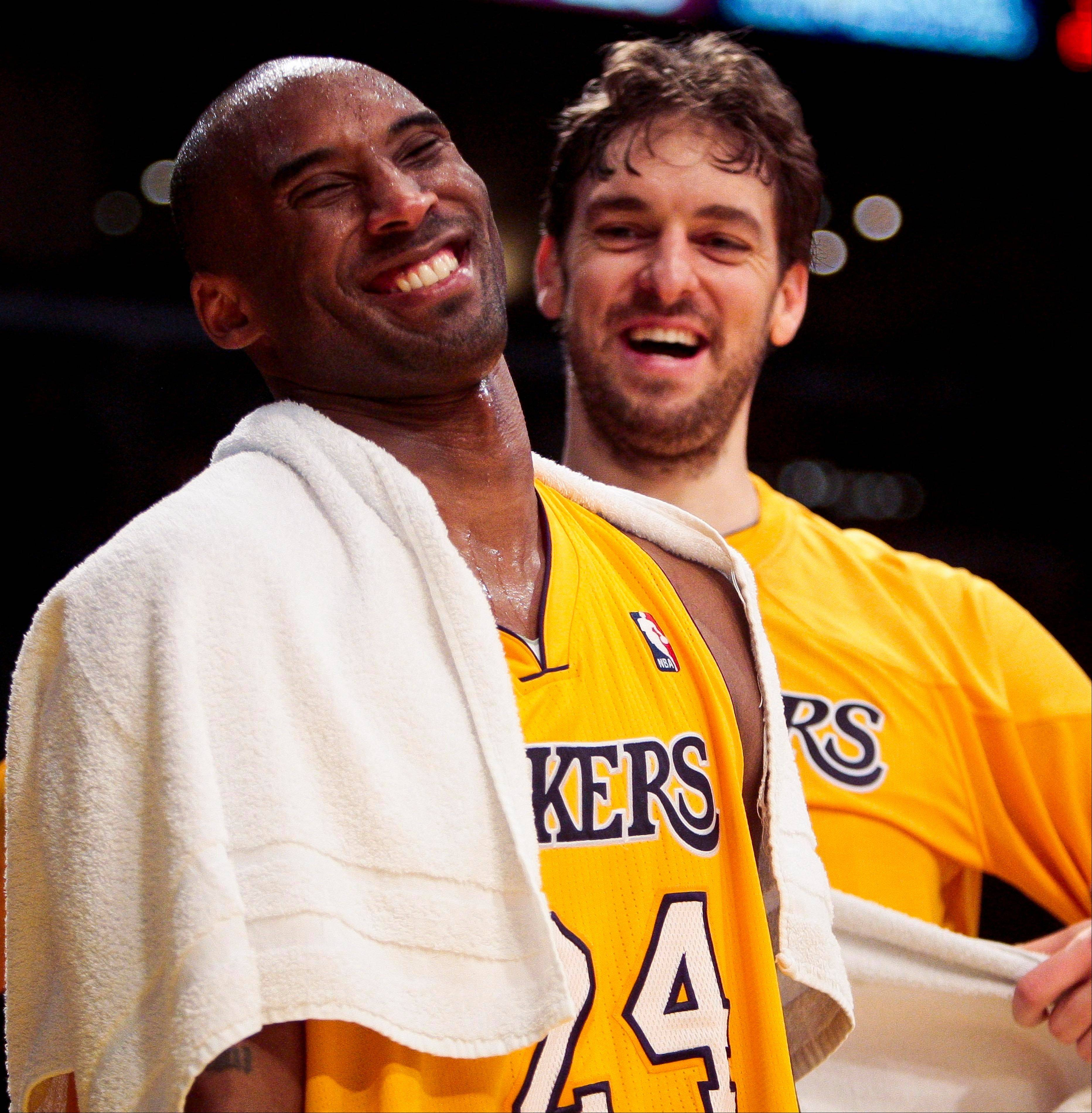 Kobe Bryant, left, said the Lakers should either trade Pau Gasol, right, and get it over with, or announce that Gasol is staying.