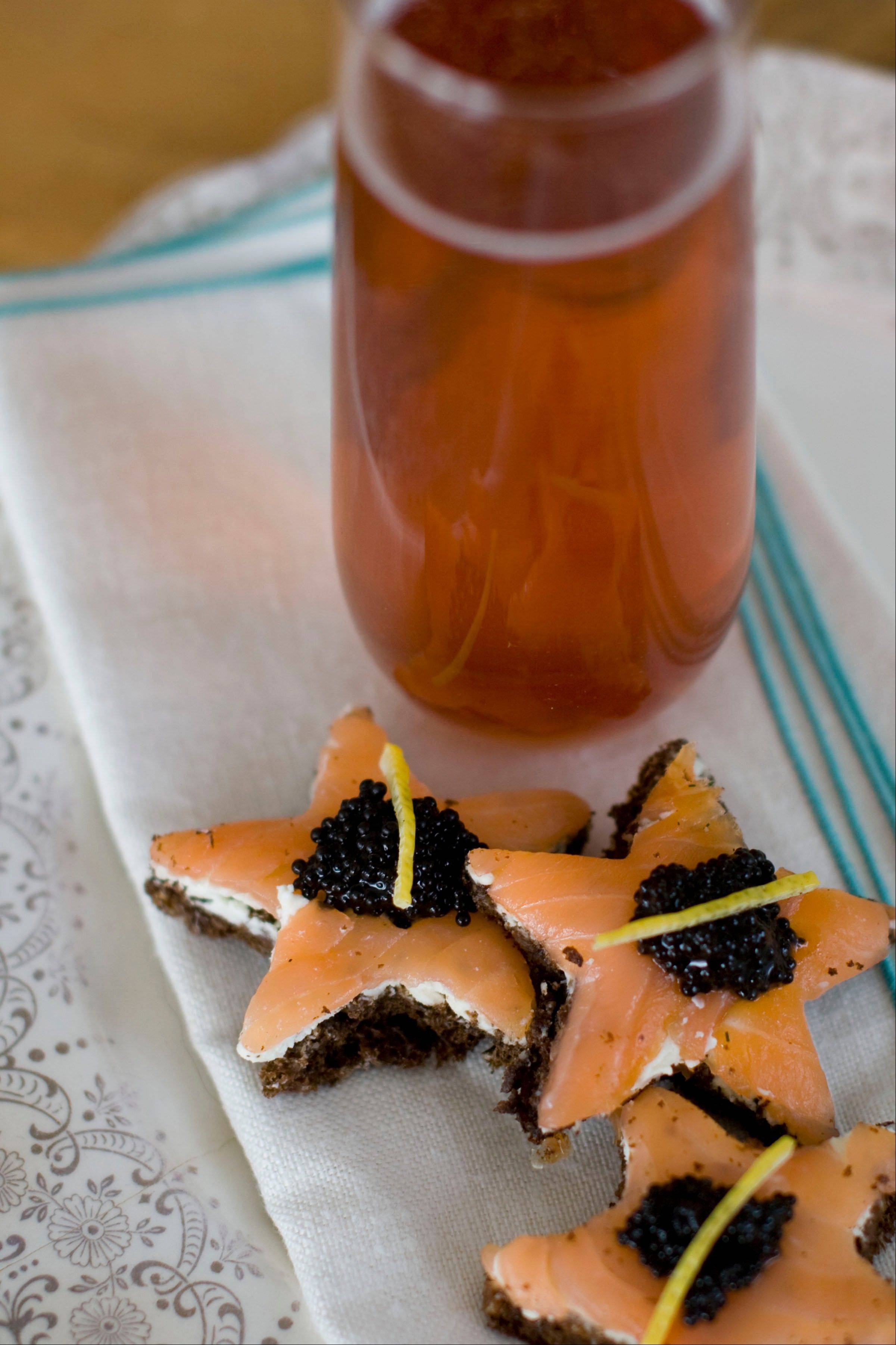 Pay homage to chef-to-the-stars Wolfgang Puck by serving Smoked Salmon Stars at your Oscar party.