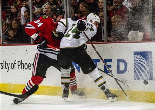 With Toews still out, Hawks' winning streak ends at 4