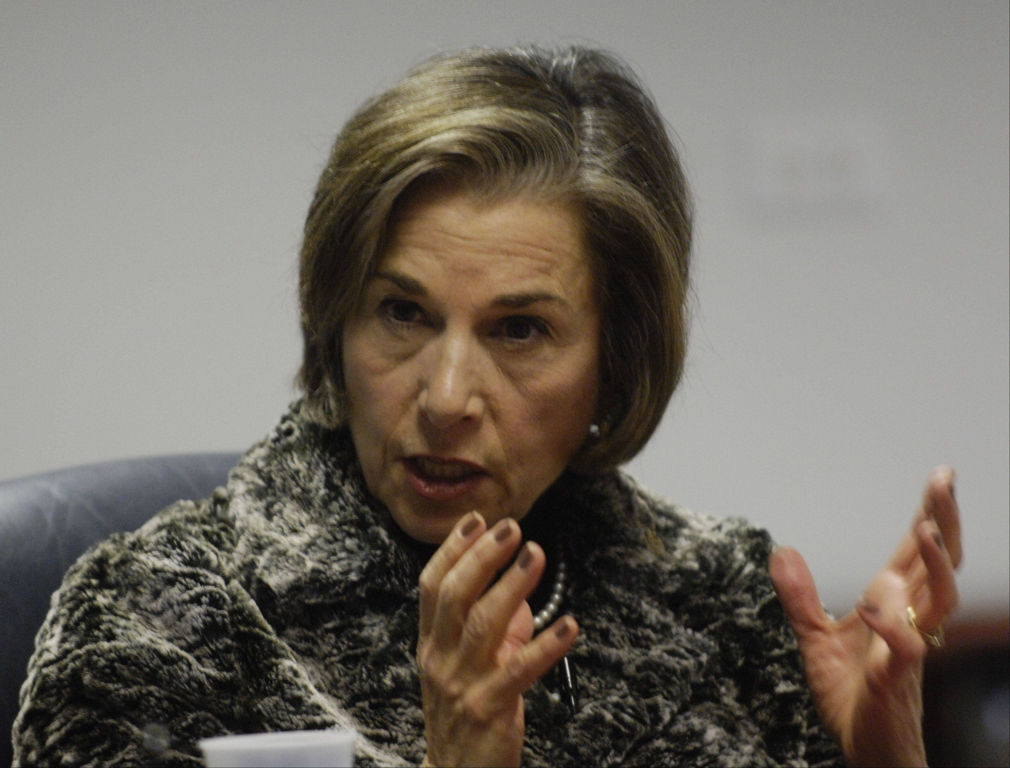 Ninth District Congresswoman Jan Schakowsky speaks to the Daily Herald Editorial Board.