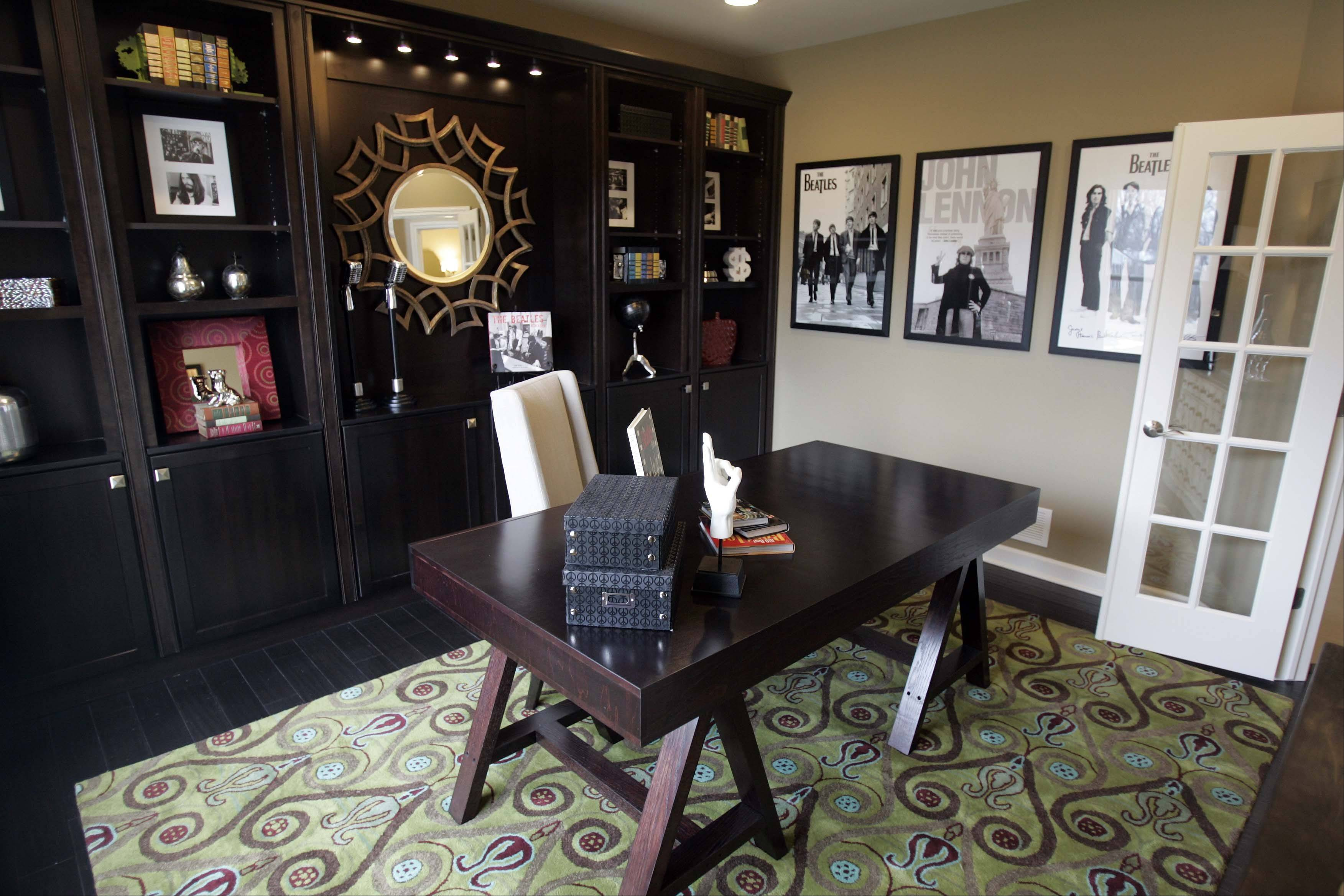 This first-floor office in the Kendall model at Whitmore Place in St. Charles could be a den or TV room.