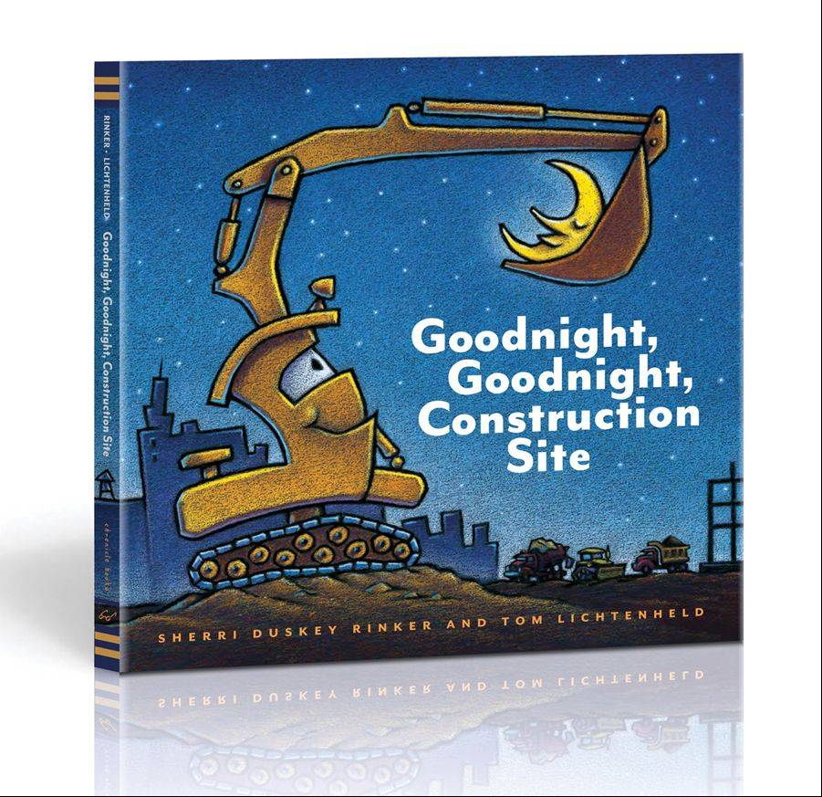 "Tom Lichtenheld illustrated ""Goodnight, Goodnight, Construction Site."""