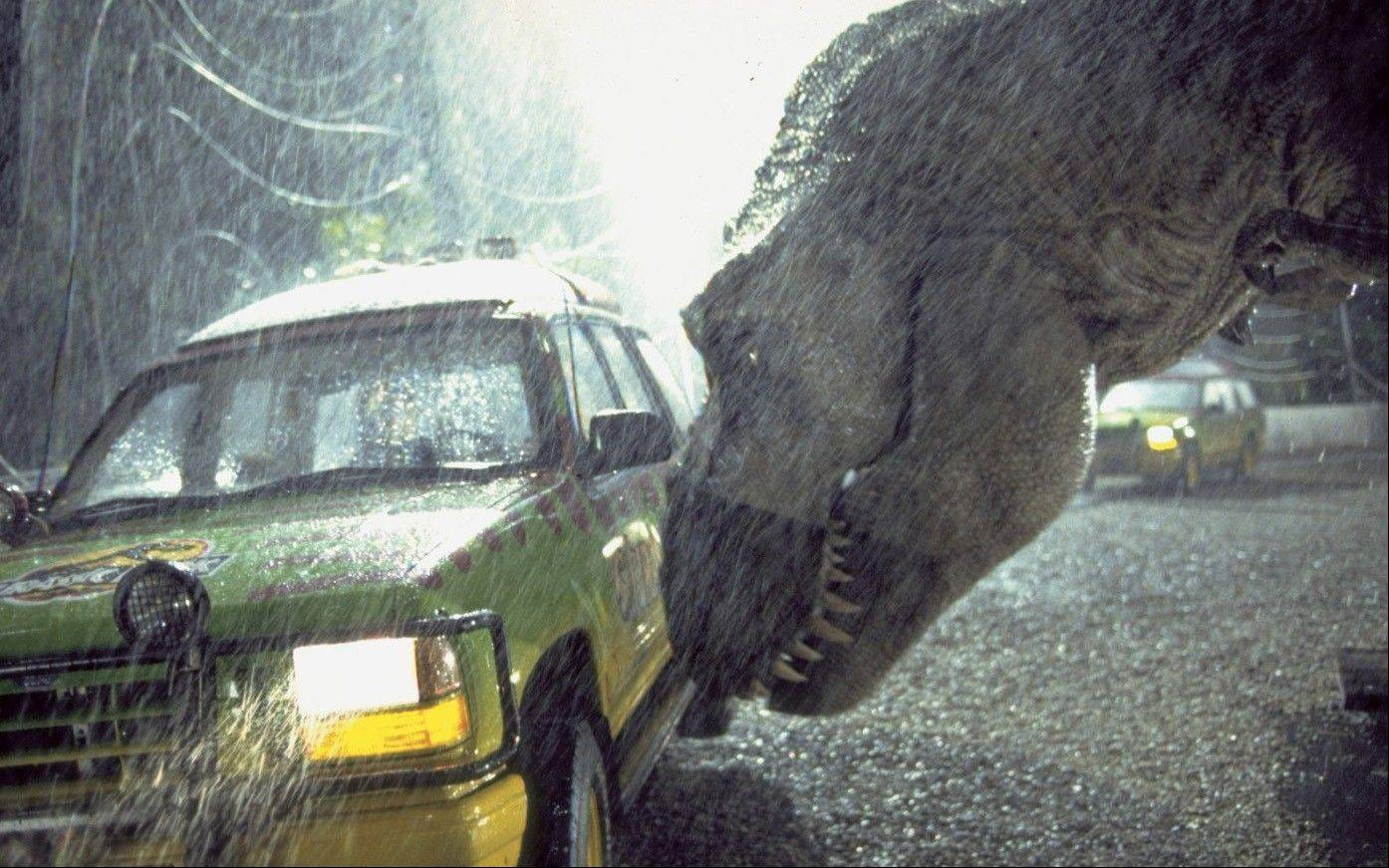 "The T. rex sounds in ""Jurassic Park"" were actually created by a mix of animal sounds, according to sound engineer Gary Rydstrom."
