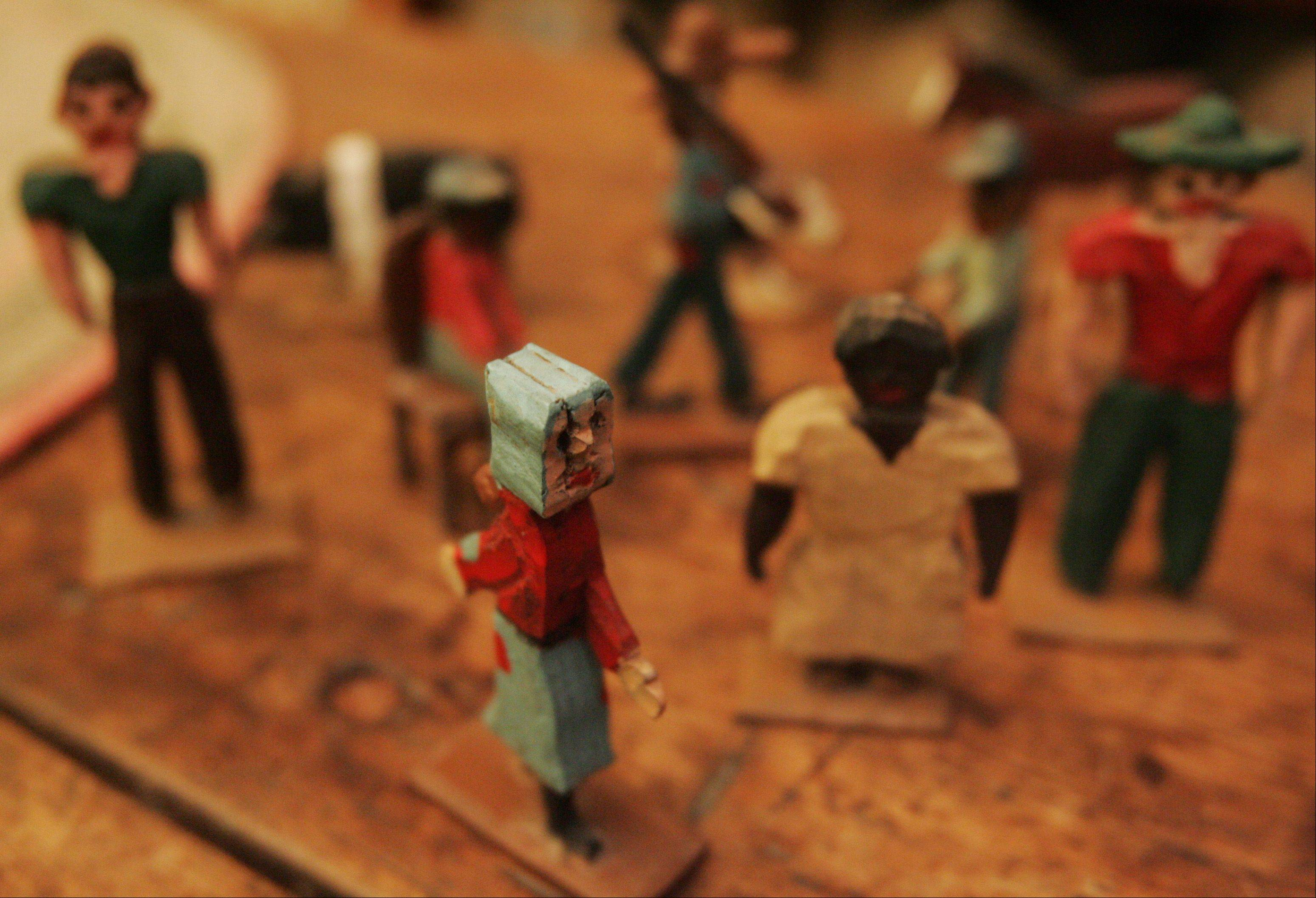 A collection of tiny handmade figures at the Little home in Kingston.