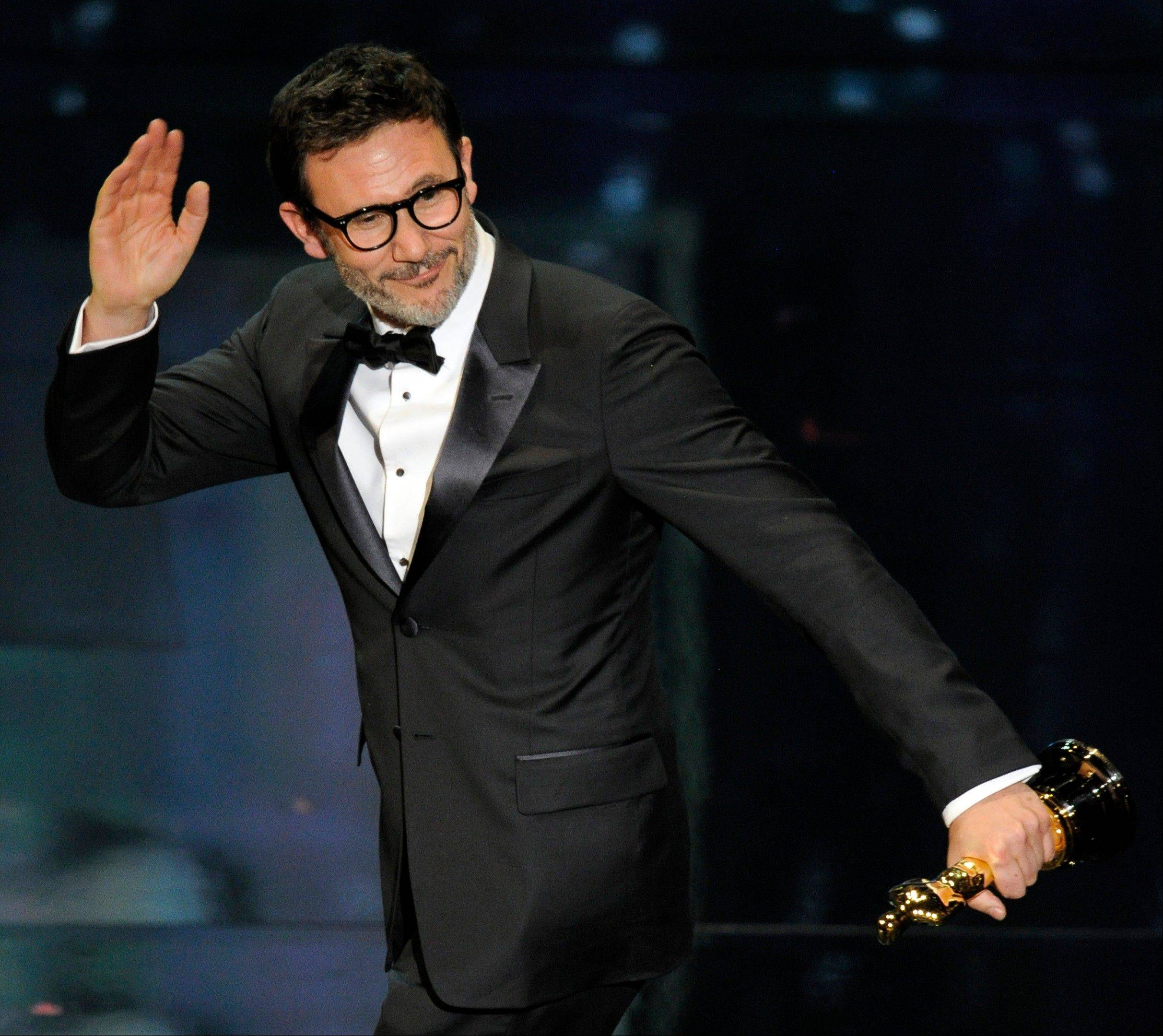 Michel Hazanavicius accepts the Oscar for Best Director for 'The Artist.'