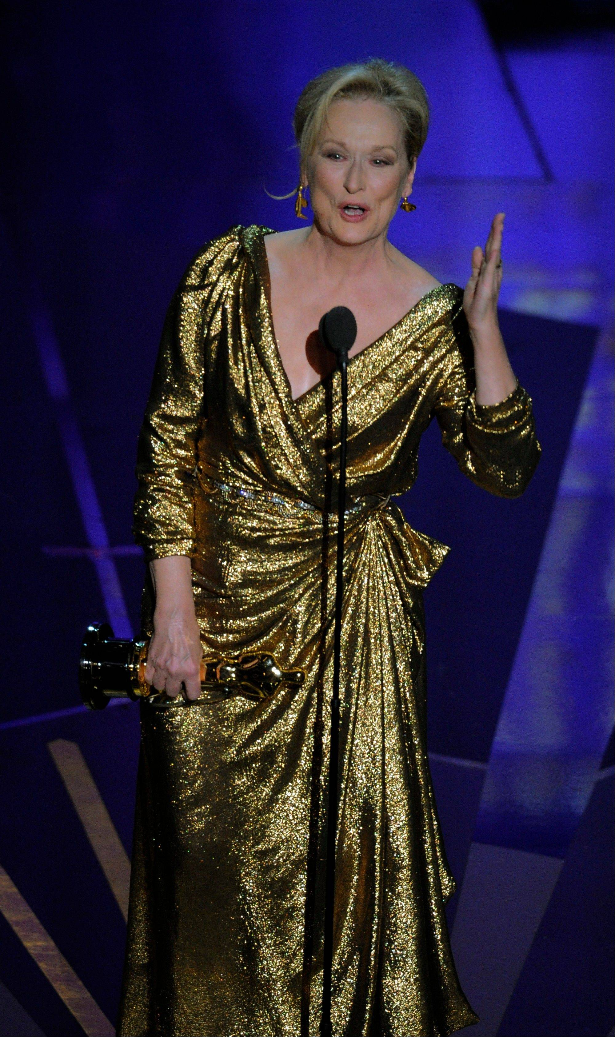 "Meryl Streep's Oscar for Best Actress for ""The Iron Lady"" is her third Academy Award."