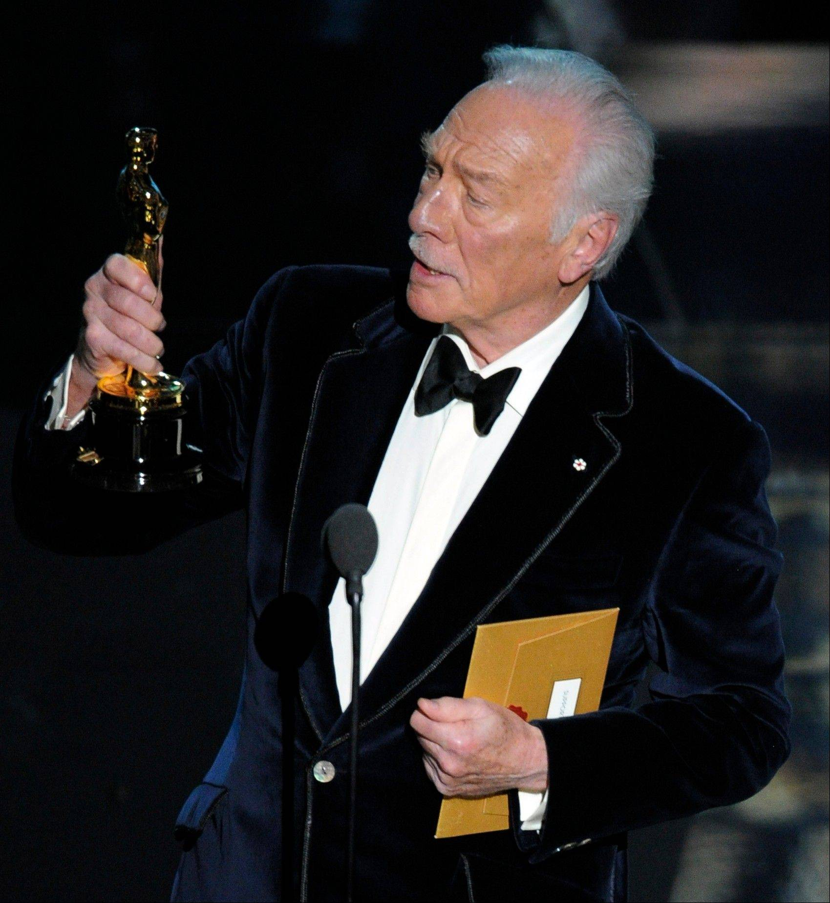 "Christopher Plummer became the oldest acting winner in Oscar history when he won Best Supporting Actor for ""Beginners."""