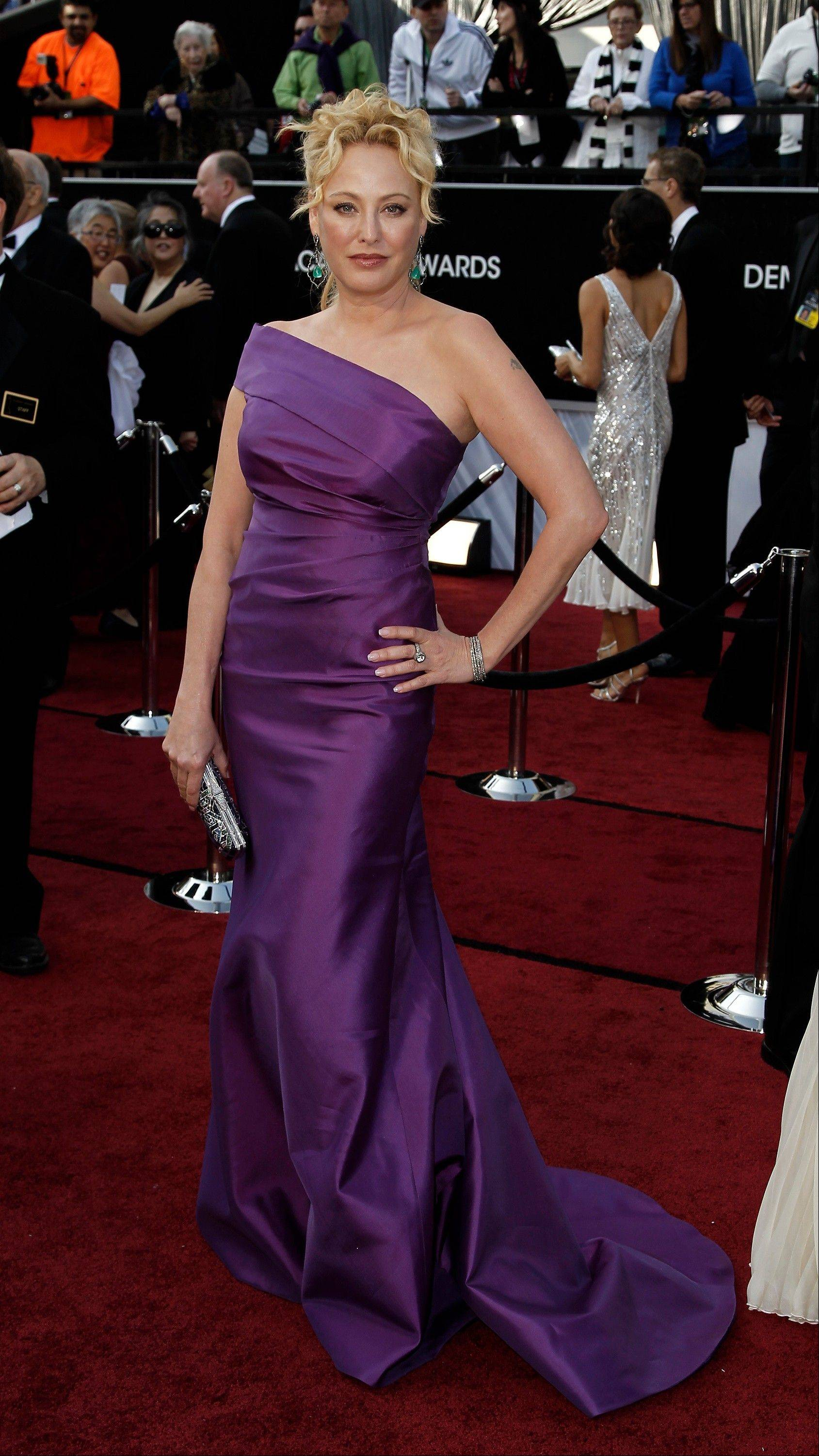 Virginia Madsen arrives before the 84th Academy Awards on Sunday.