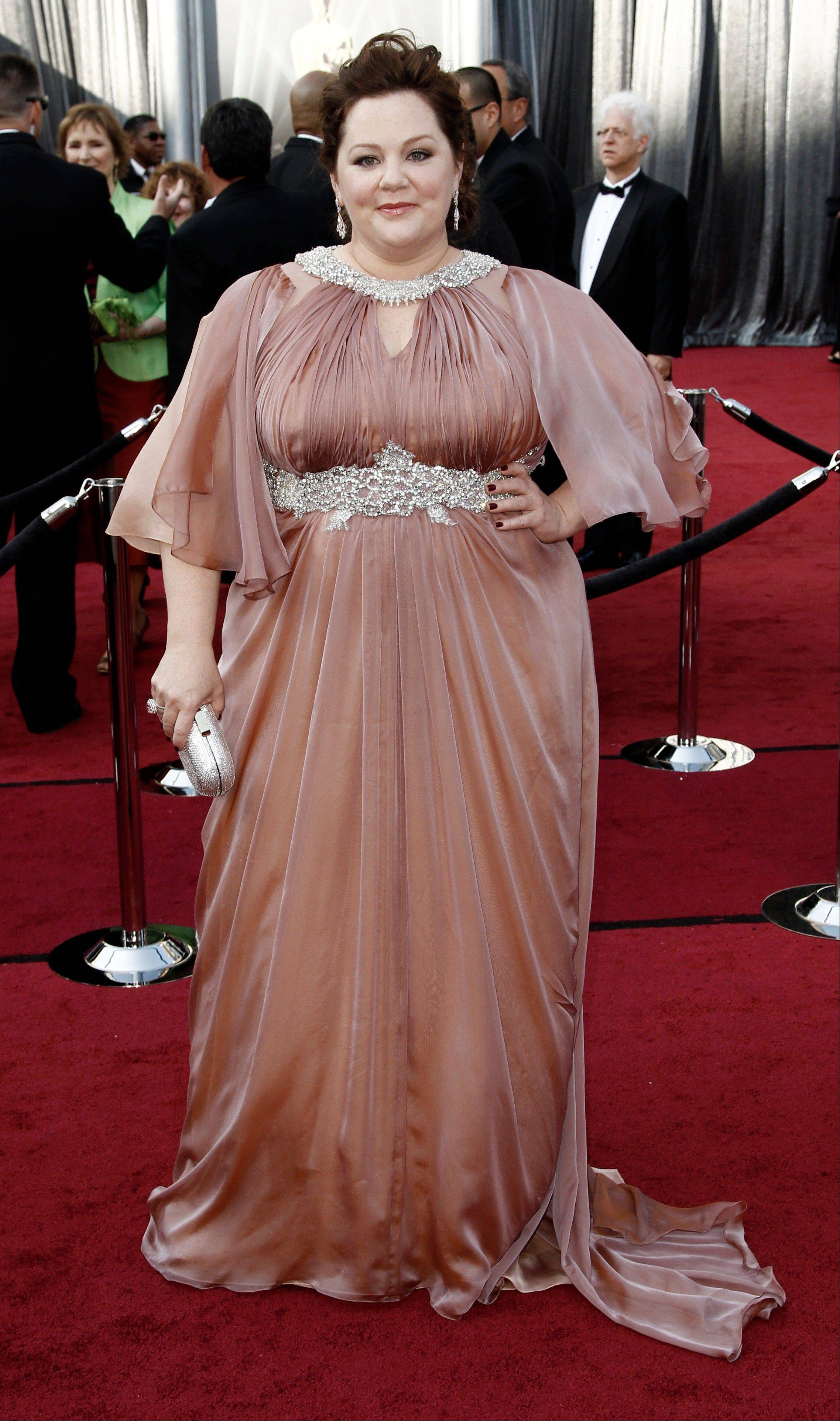 Oscar nominee and Plainfield native Melissa McCarthy wore Marina Rinaldi to the 84th Academy Awards on Sunday.