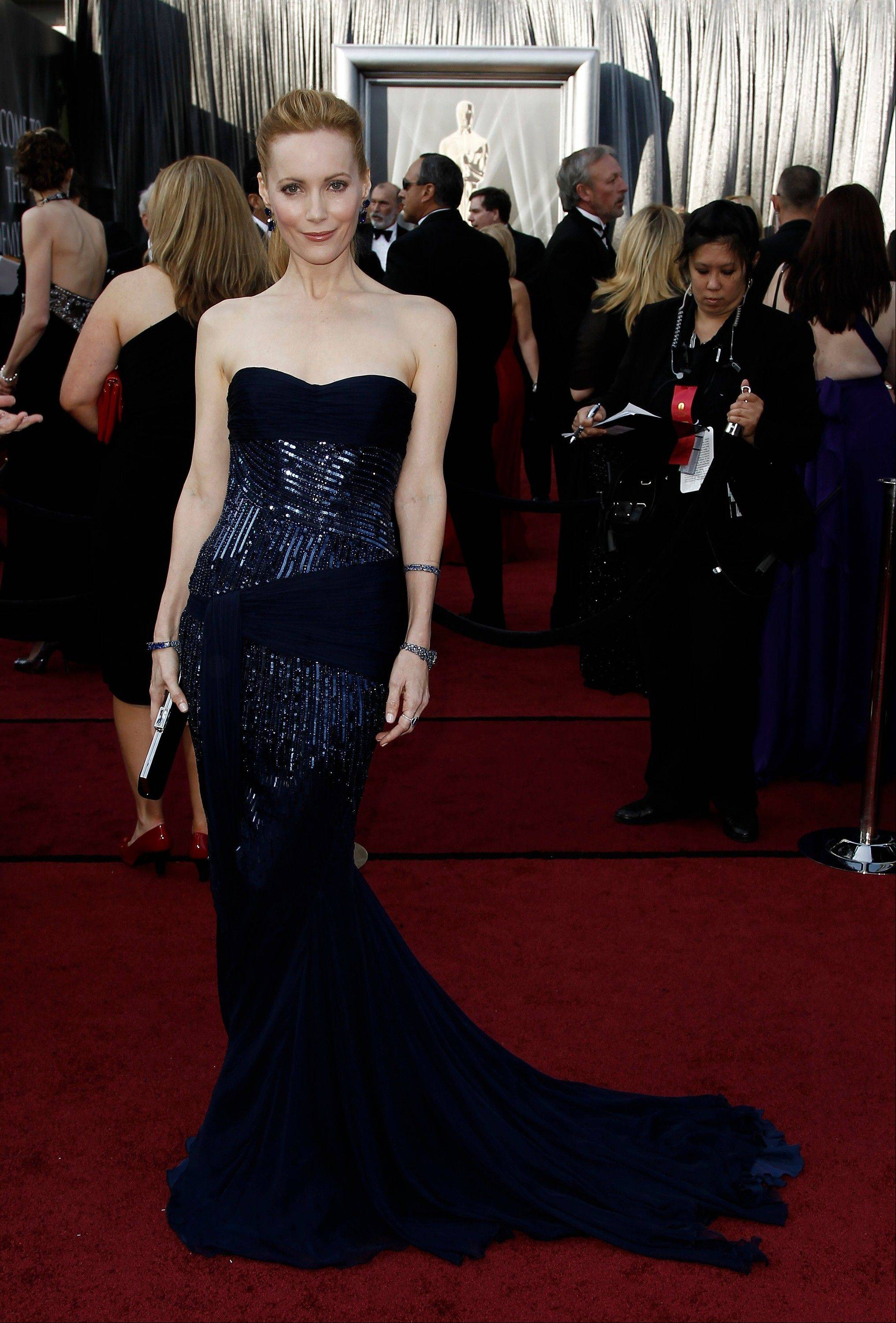 Leslie Mann arrives before the 84th Academy Awards on Sunday,.