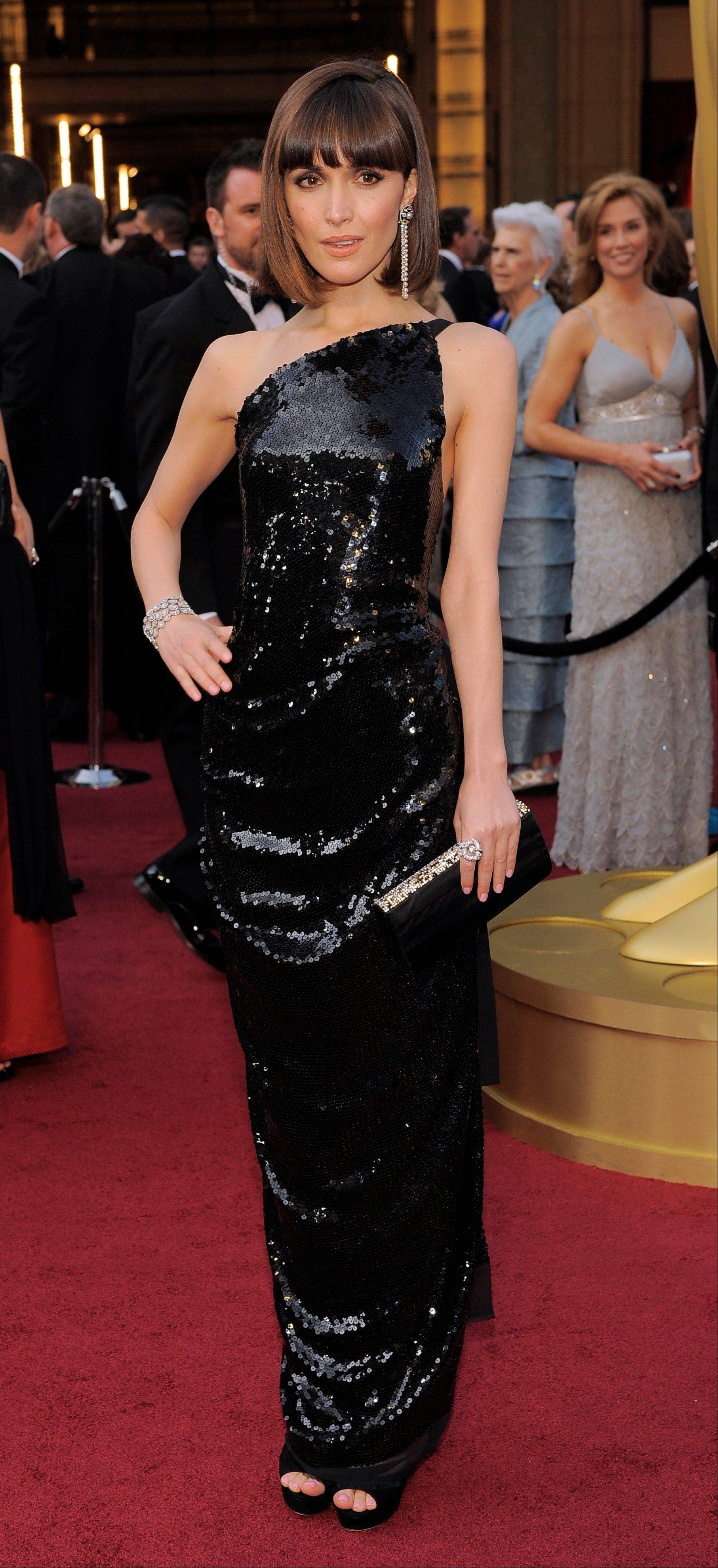 Rose Byrne donned a Vivienne Westwood gown for the Oscars.