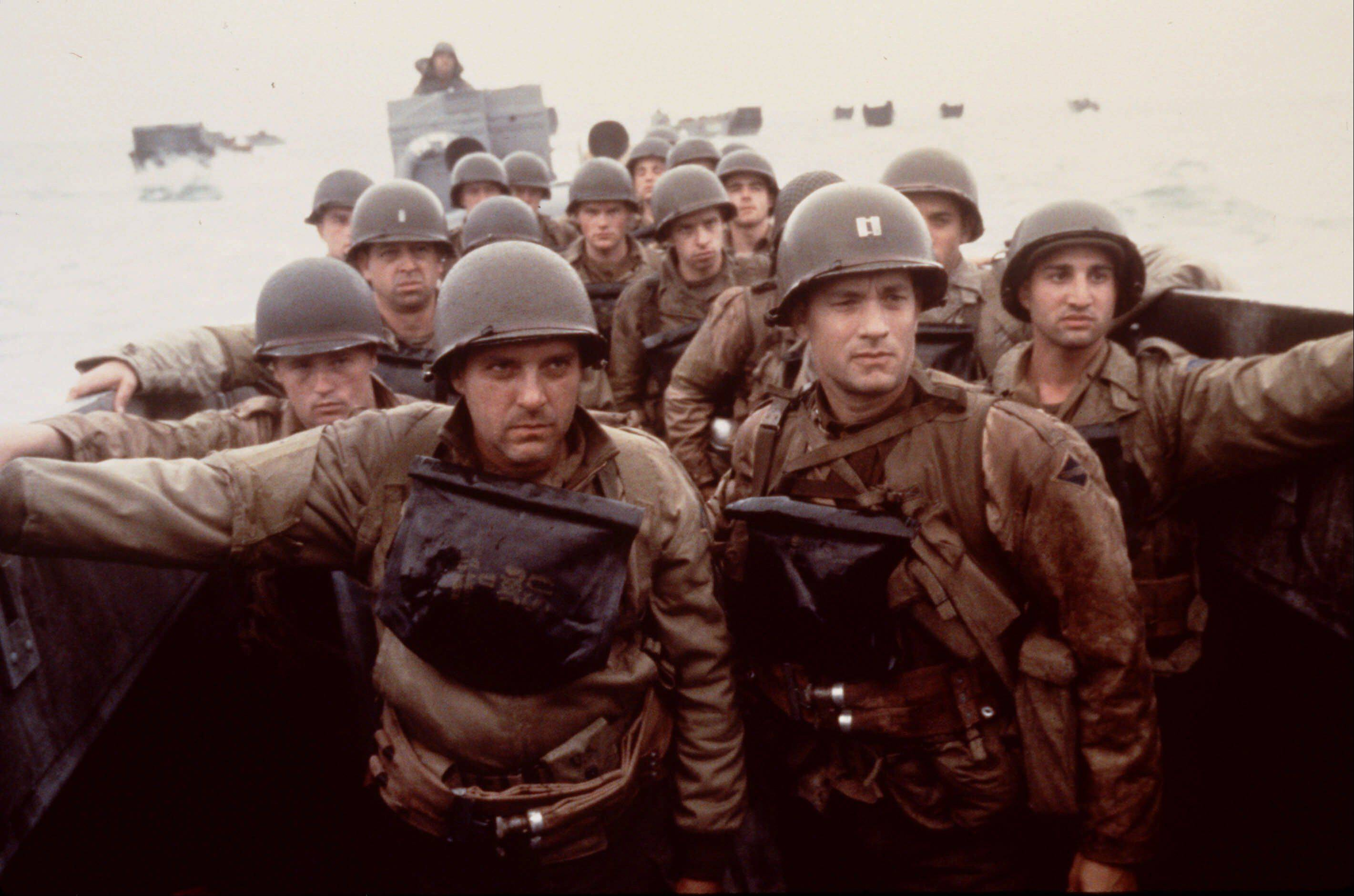 "Tom Hanks, right, and Tom Sizemore, left, star in ""Saving Private Ryan,"" which Oscar-nominated sound designer Gary Rydstrom called the most challenging film of his career."