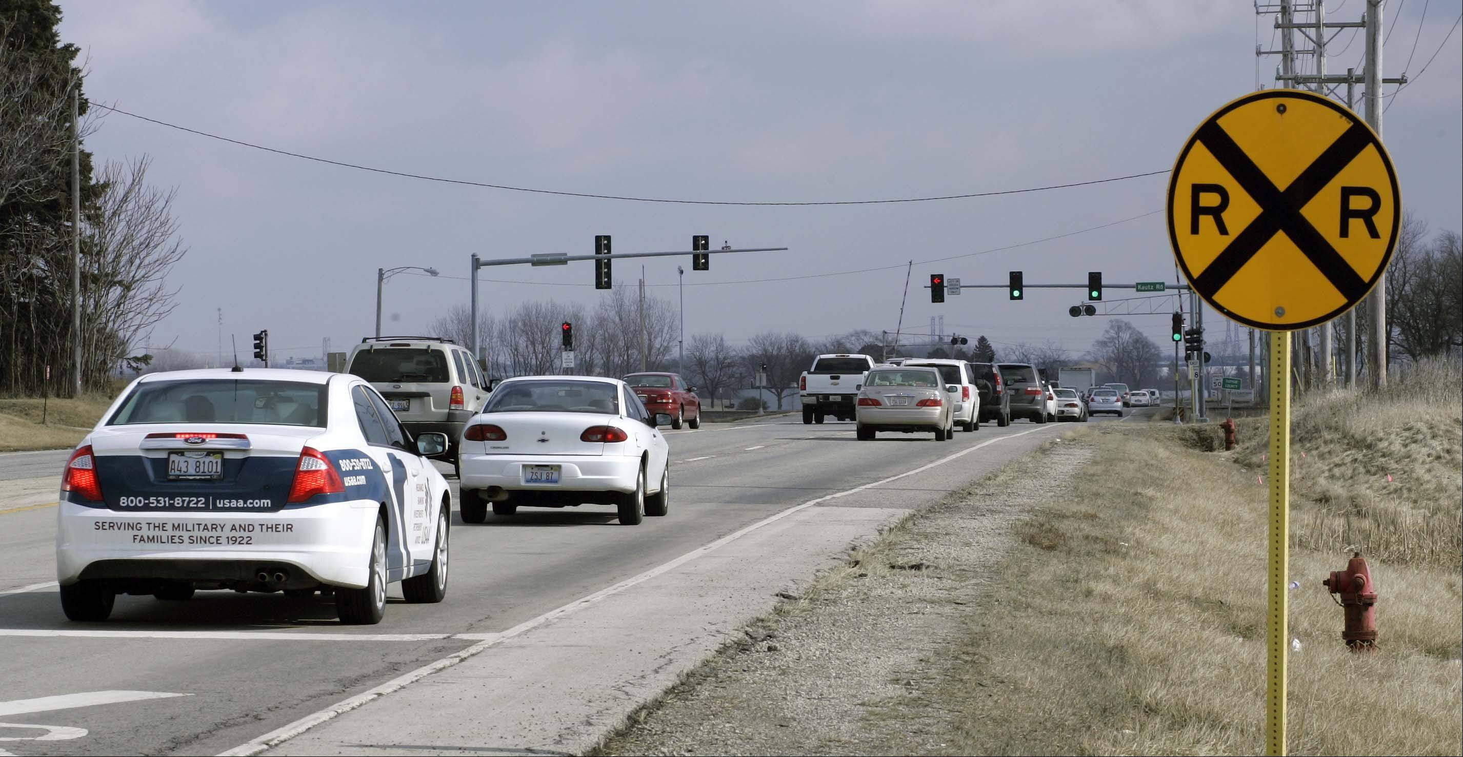 The state is going to rework the intersection of Route 38 and Kautz Road at the Union Pacific railroad tracks, building an overpass for Route 38 and Kautz.