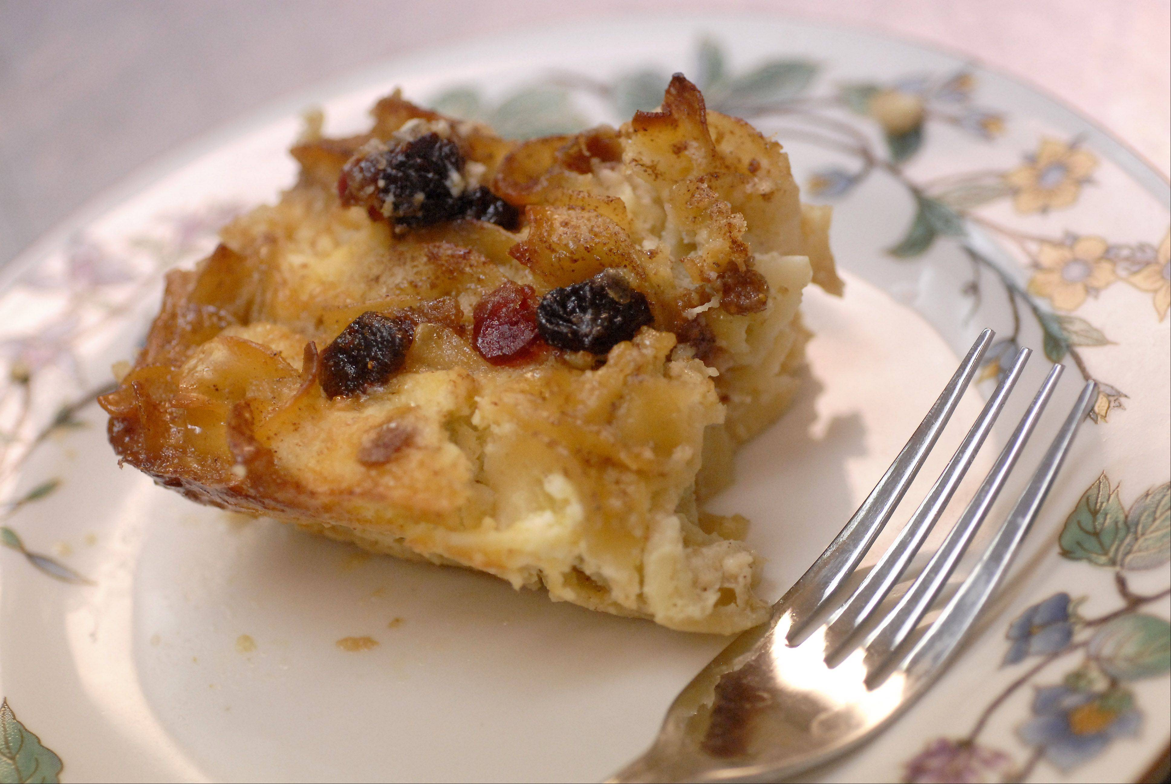 Kugel from Cook of the Week Roberta Fahey includes dried fruits for extra flavor.
