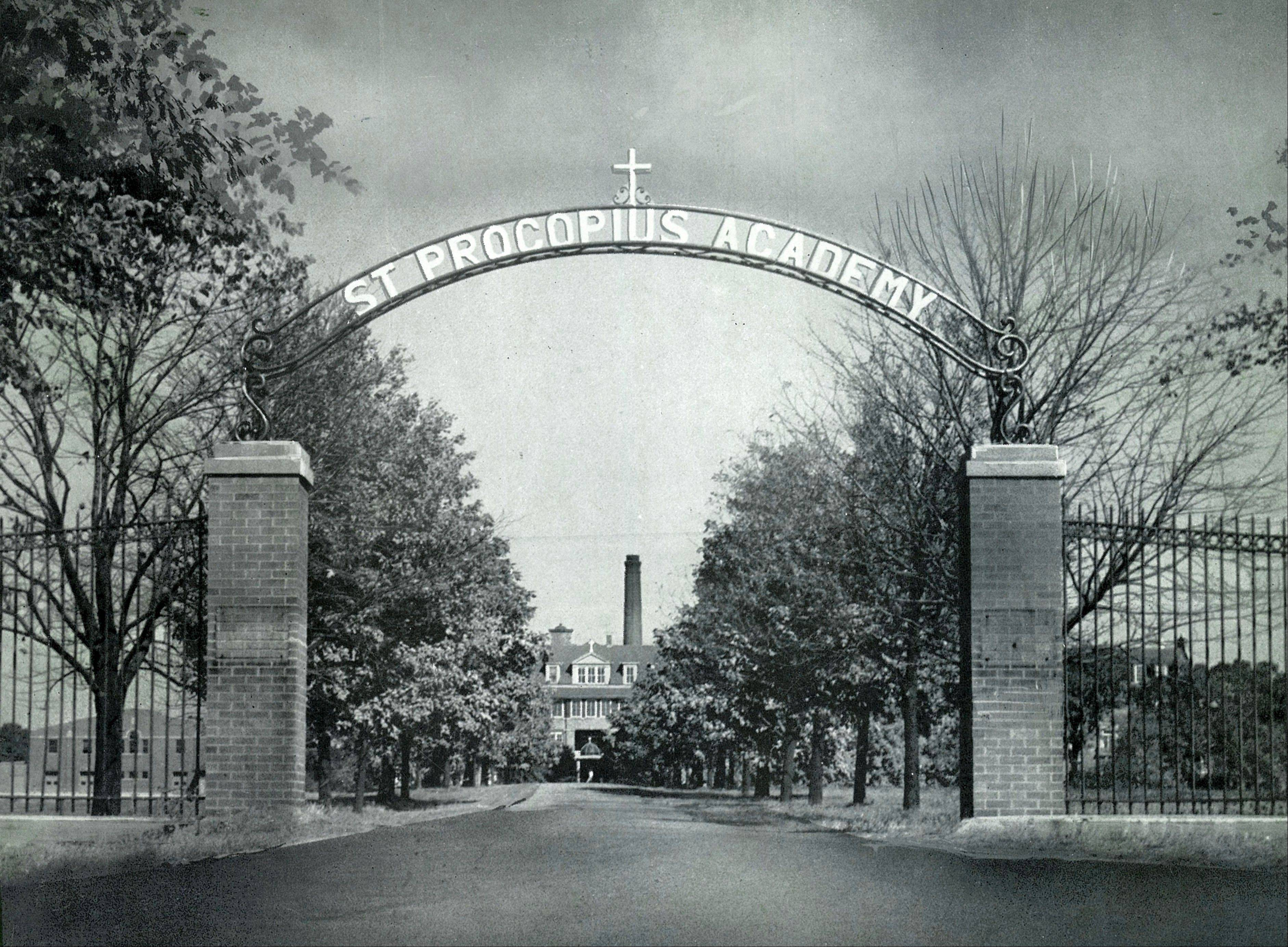 This is the main entrance to the all-male St. Procopius Academy, later renamed Benet Academy when it opened to the female students of Sacred Heart Academy.