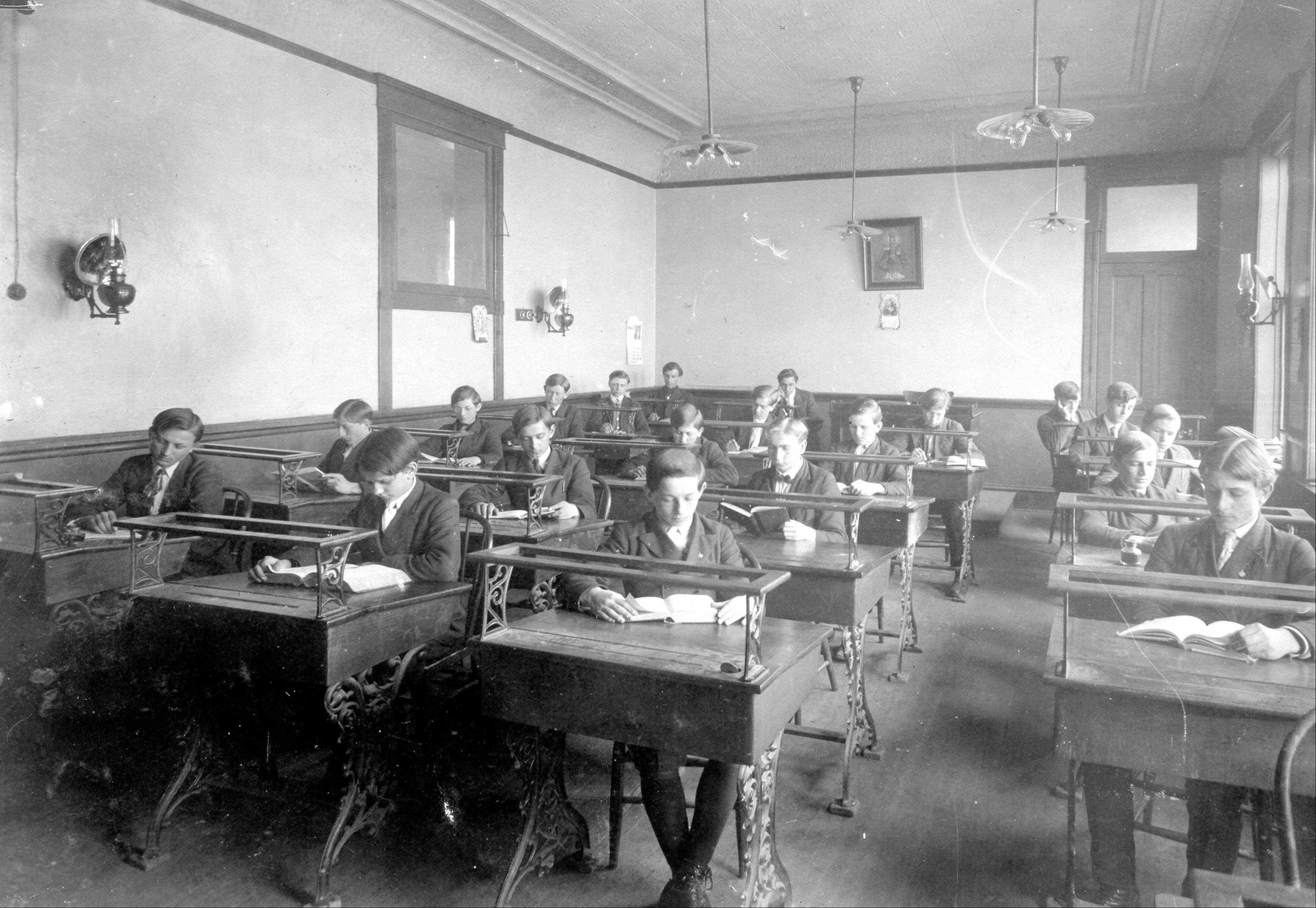 St. Procopius Academy students, like those in a junior study hall circa 1911, were taught on the campus of St. Procopius College.