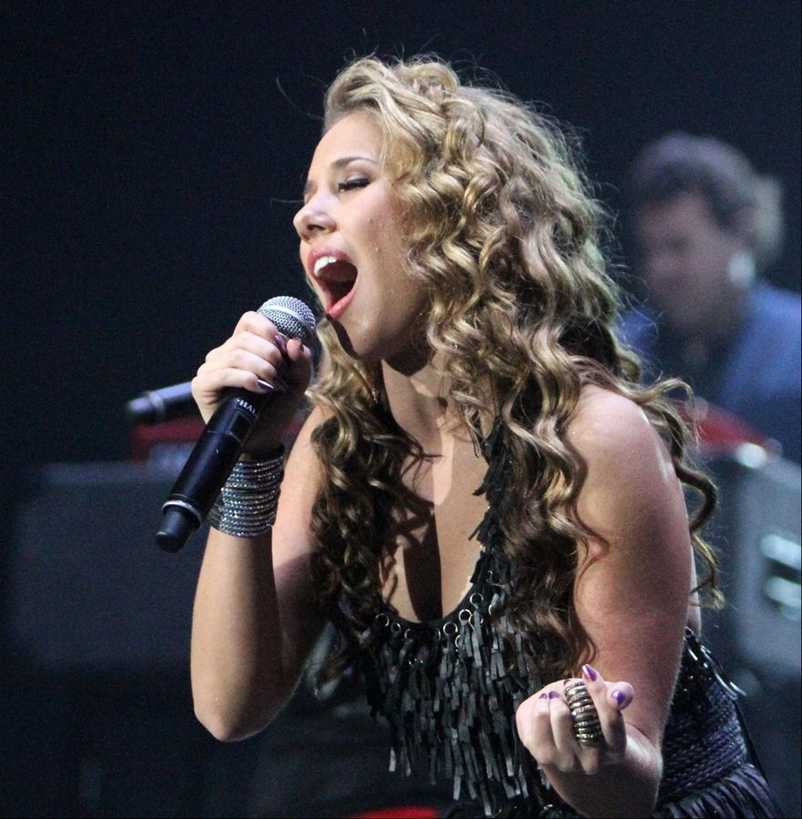 "Haley Reinhart performs during the ""American Idol Tour"" concert in Rosemont last July."