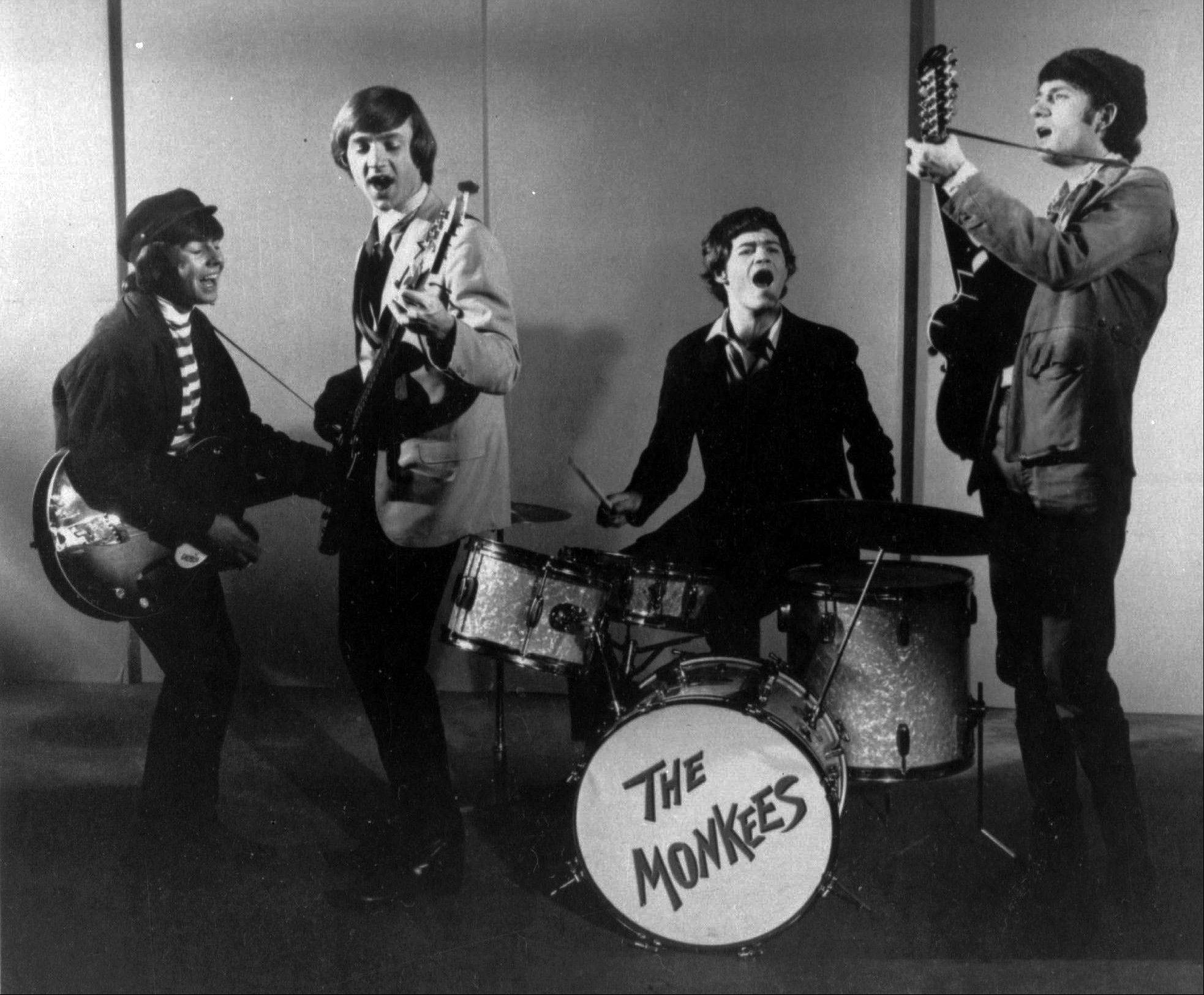 "This 1966 photo shows The Monkees singing group. Shown from left, are, Davy Jones, Peter Tork, Micky Dolenz and Mike Nesmith. Jones died Wednesday Feb. 29, 2012 in Florida. He was 66. Jones rose to fame in 1965 when he joined The Monkees, a British popular rock group formed for a television show. Jones sang lead vocals on songs like ""I Wanna Be Free"" and ""Daydream Believer."""