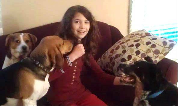 Alyssa Locascio, a sixth-grader at Hawthorn Middle North, is raising money for animal shelters.