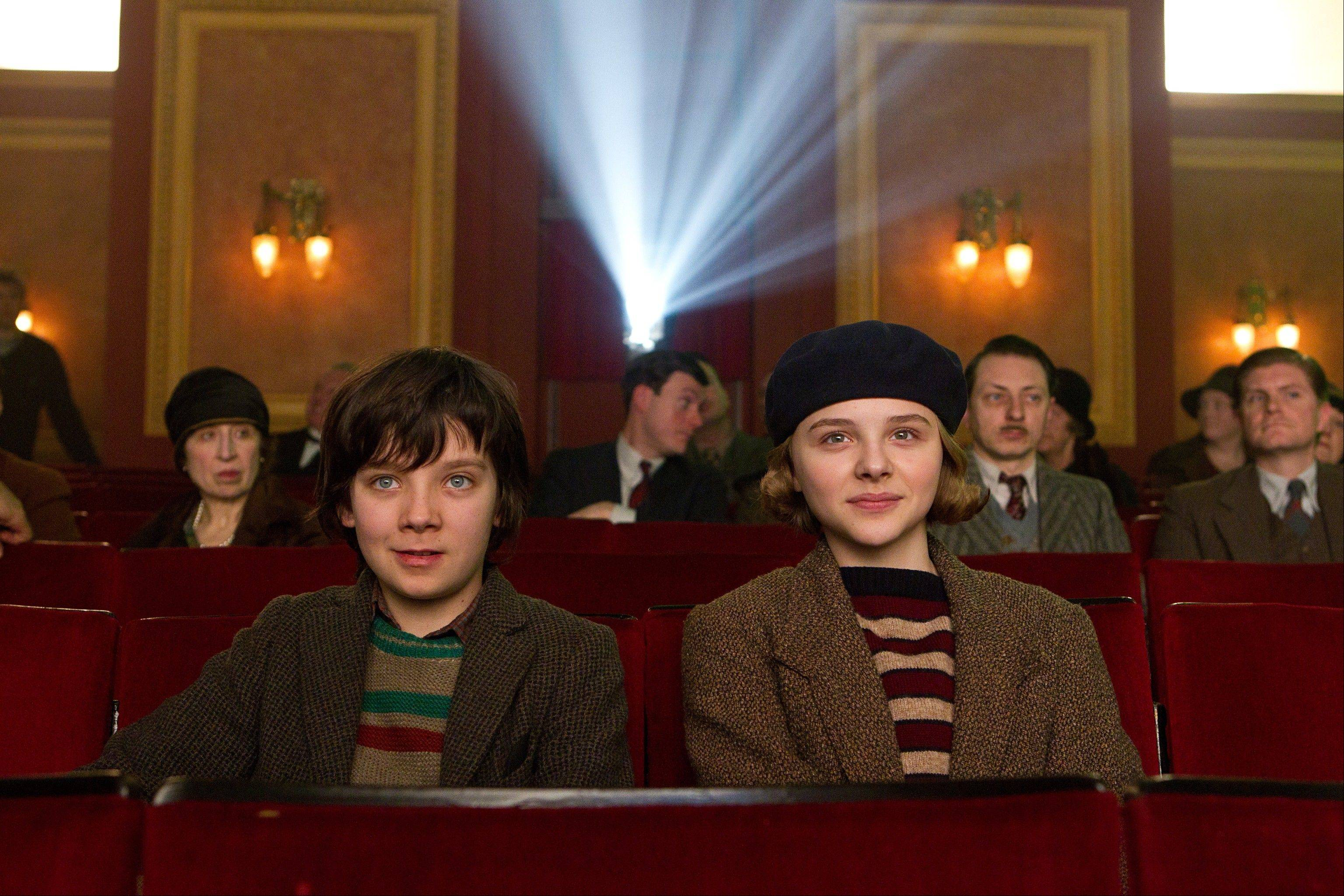 "Hugo (Asa Butterfield) befriends Isabelle (Chloe Moritz) and introduces her to the magic of movies in Martin Scorsese's ""Hugo,"" now on DVD."