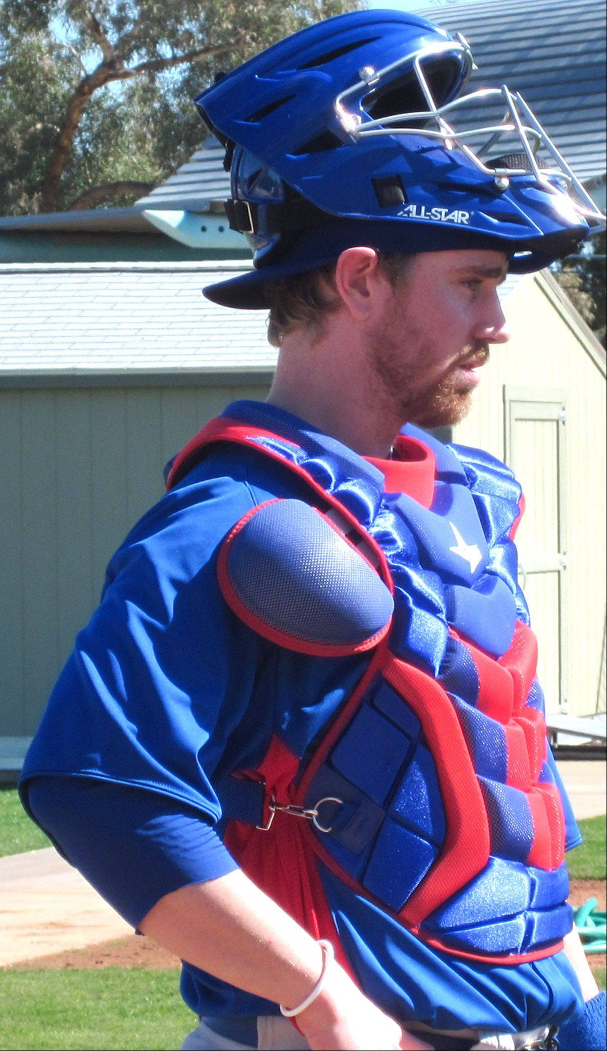 Michael Brenly, Bob Brenly's son at Cubs spring training camp in Mesa.