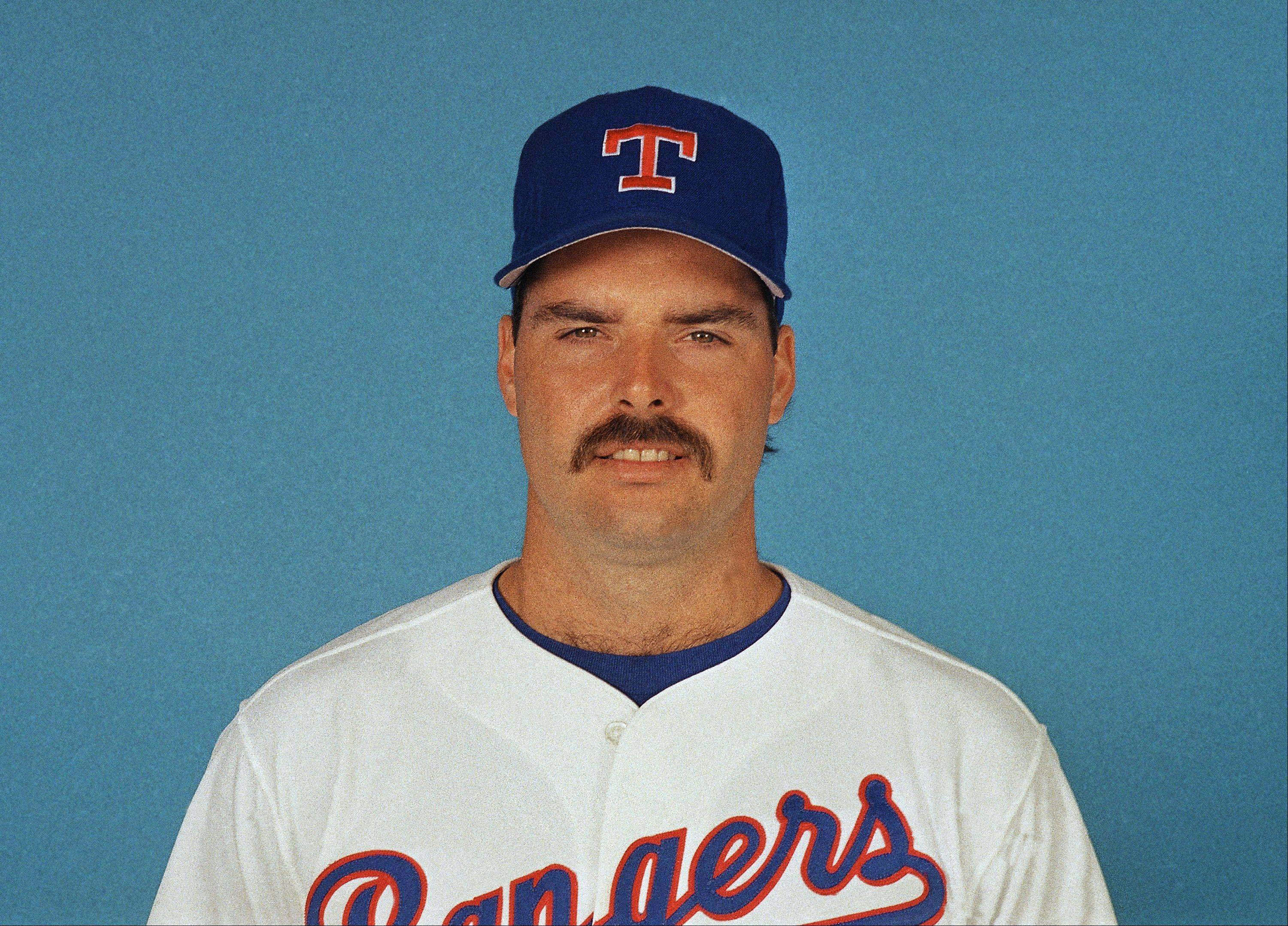 Jeff Russell, (40) Texas Rangers, March 1989.