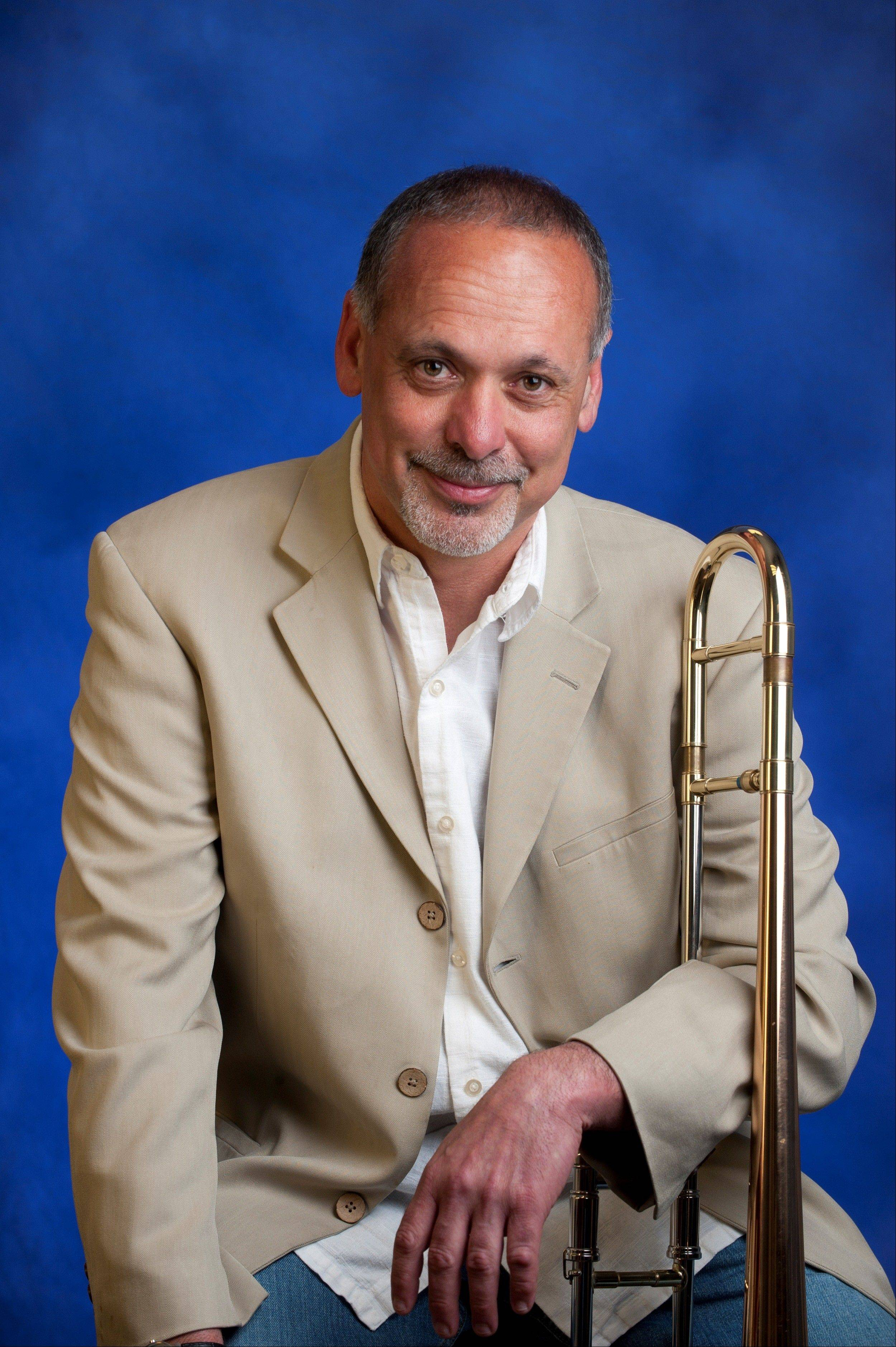 Elgin Community College's own Mark Bettcher, trombonist extraordinaire, will entertain in the Arts Center on Saturday, March 3.