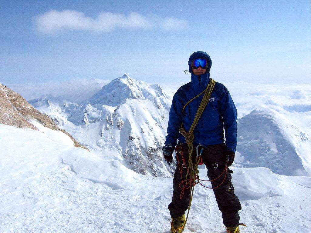 George Naxera climbed Mount McKinley in Alaska in 2008. He said it was the most challenging of his climbs, but also the most fun.