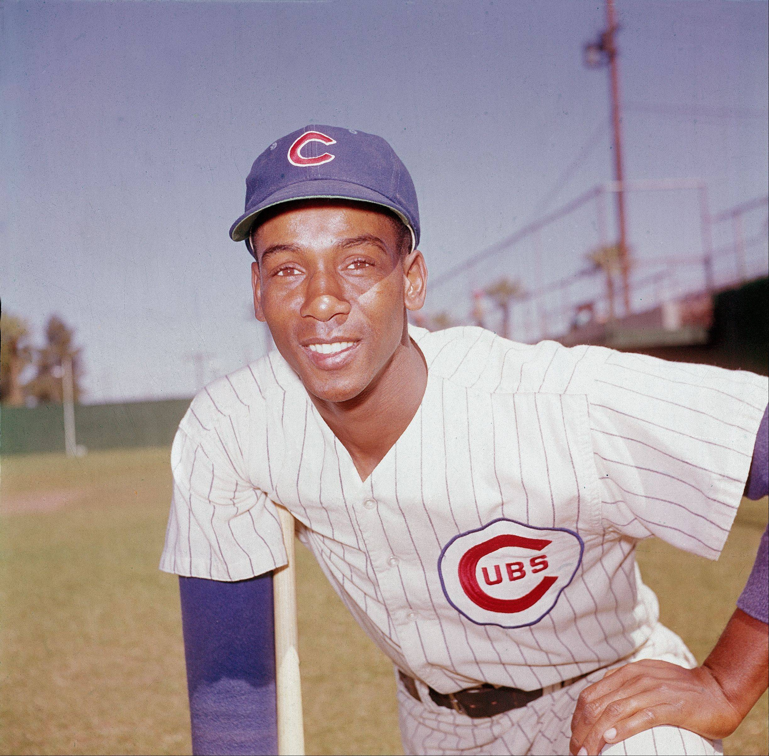 Ernie Banks, infielder for the Chicago Cubs, poses in 1970.