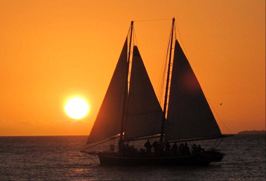 Allen Panek of Naperville won this month's Photo Finish contest with his picture of the sun setting off the coast of Key West, Fla.