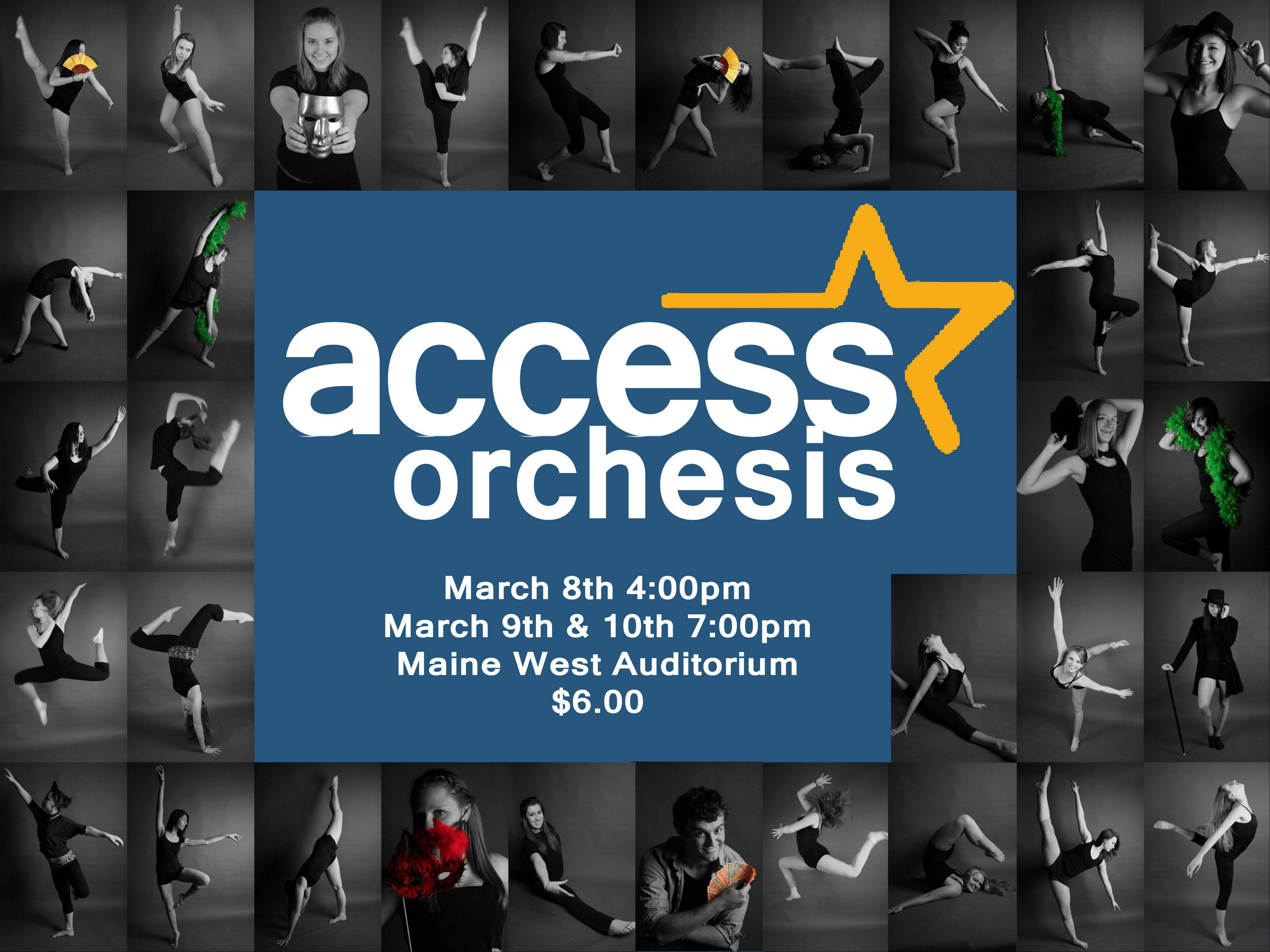 "The ""Access Orchesis"" poster."