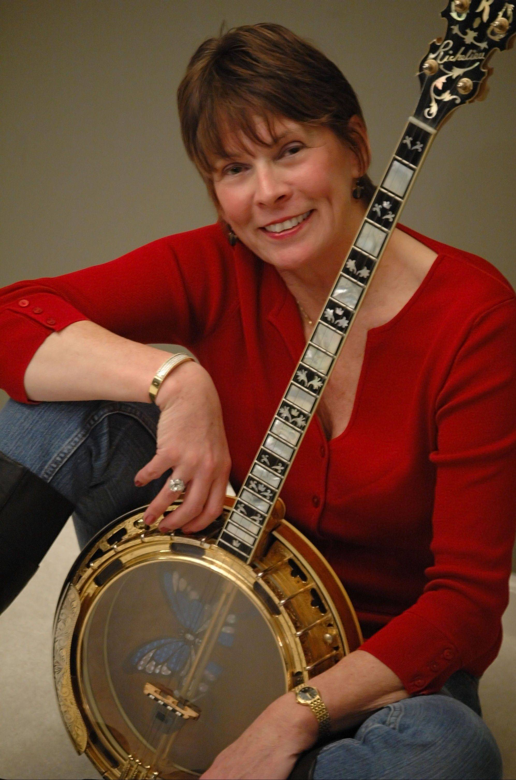Jazz banjoist and singer Ann Stewart of Carol Stream is the leader of five-member The Banjo Buddies Dixieland Jazz Band.