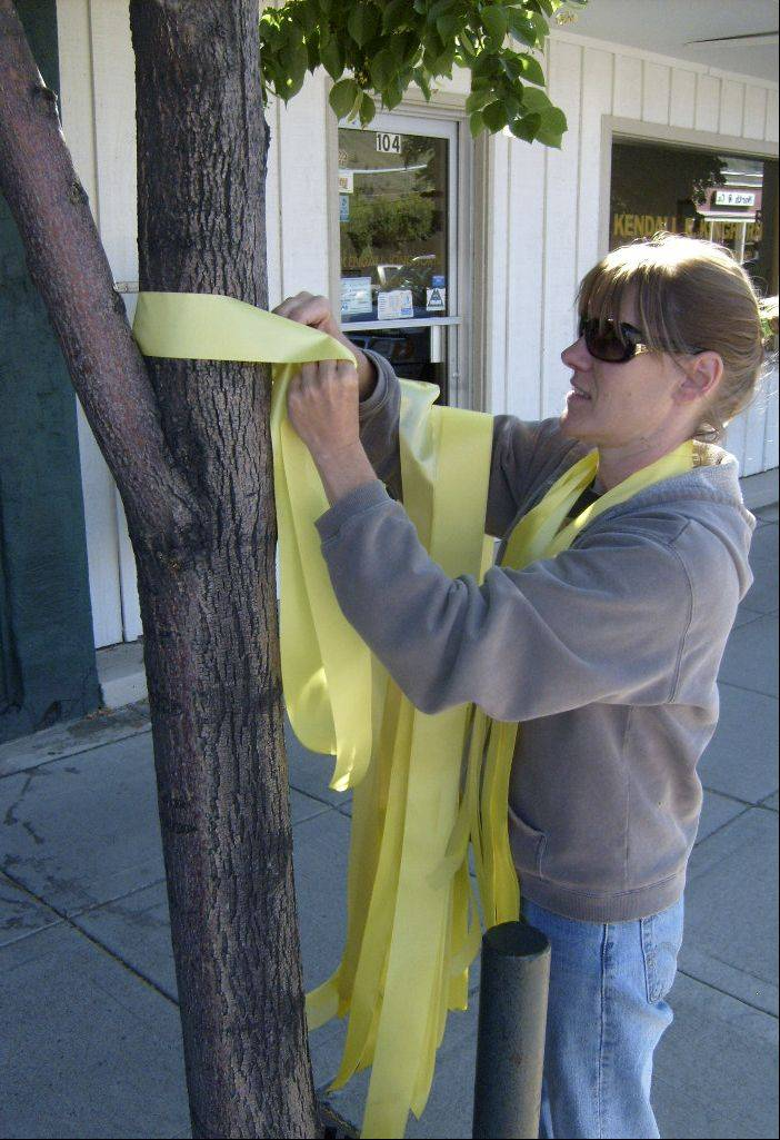 After Sgt. Bowe Bergdahl went missing in Afghanistan, people from his hometown of Hailey, Idaho began tying yellow ribbons around trees. Two and a half years later, ribbons remain on the trees throughout Hailey.