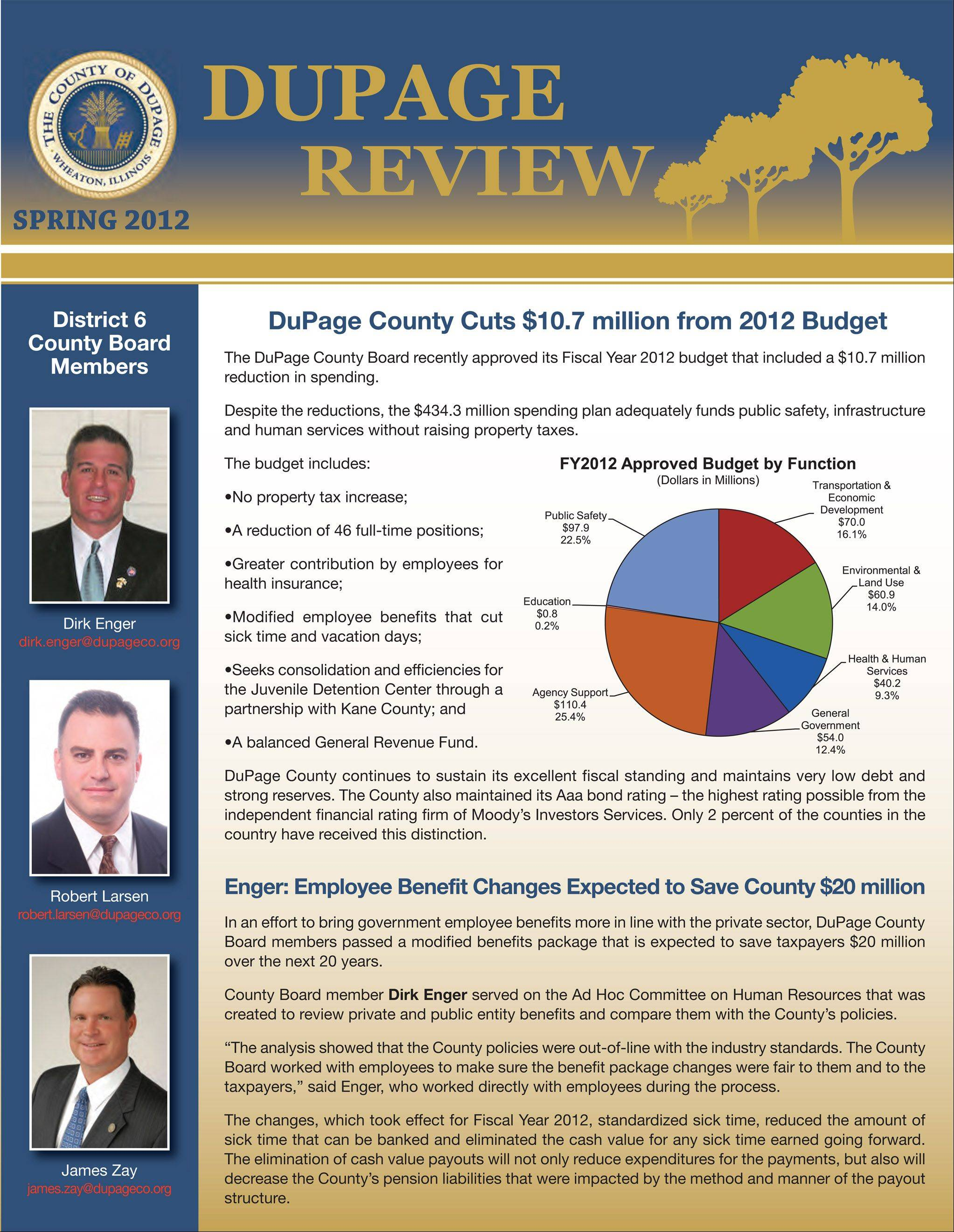 "The latest edition of the DuPage Review has some county board hopefuls complaining that the newsletter ""promotes"" incumbents too close to the March 20 primary election."