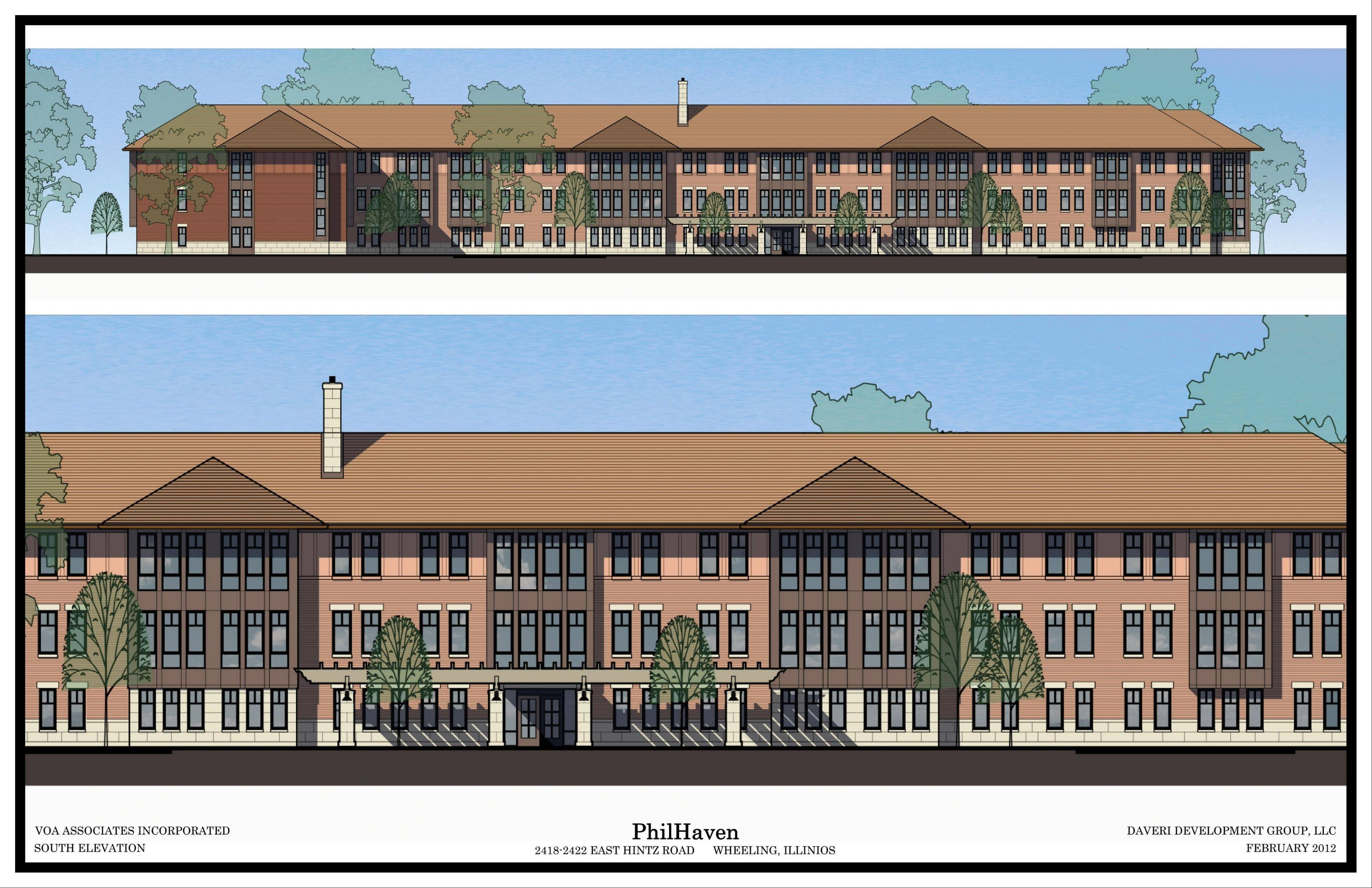 A rendering of PhilHaven, a proposed supportive living development for individuals with disabilities at 2418 W. Hintz Road, Wheeling.