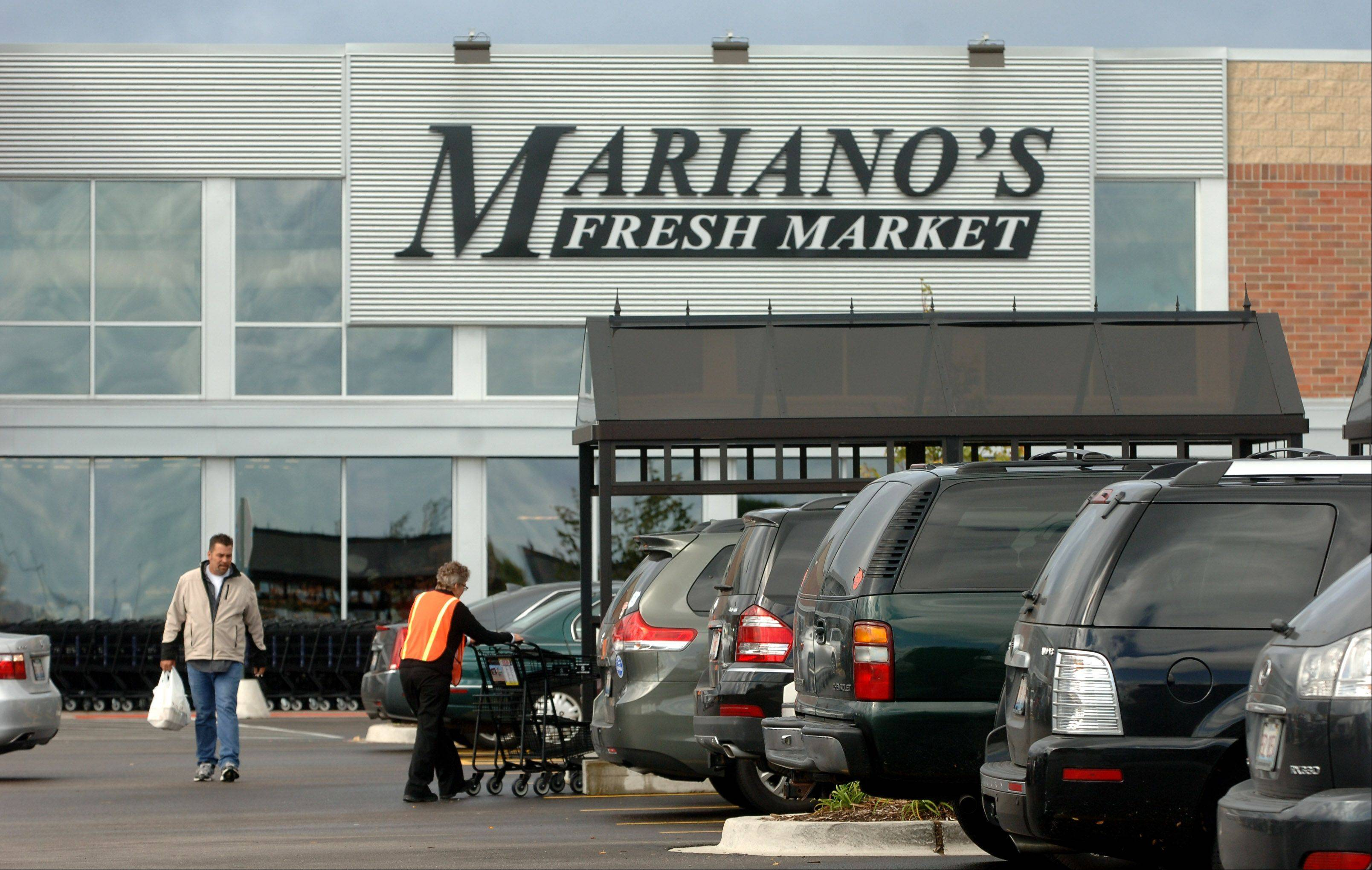 Until late fall, the parking lot at the Mariano's Fresh Marke