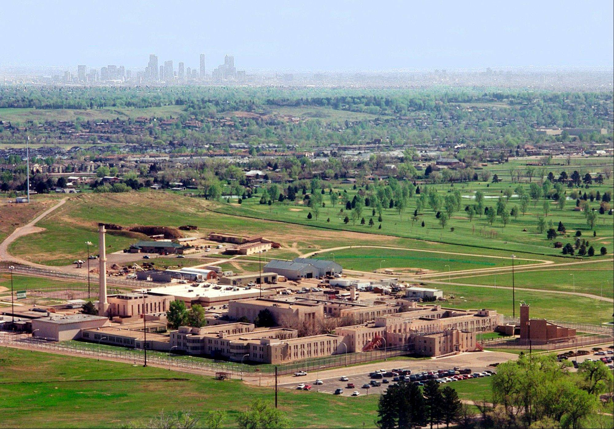 This 2006 photo provided March 7, 2012, by the Federal Bureau of Prisons shows an aerial view of the Federal Correctional Institution Englewood in Littleton, Colo., with the city of Denver seen in the background. Former Illinois Gov. Rod Blagojevich, who was convicted on multiple corruption counts, is expected to be reporting to this facility March 15.
