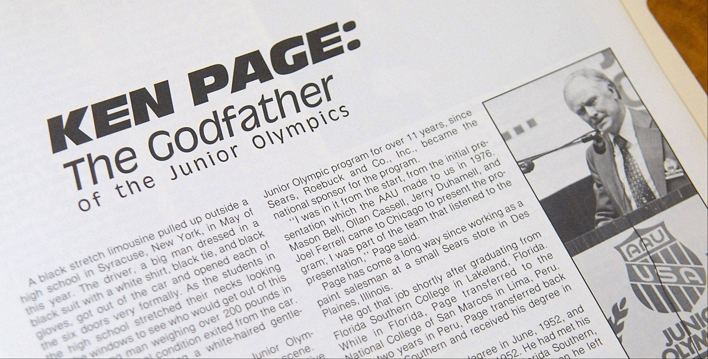 Ken Page worked for Sears throughout Latin America and got the company involved in Junior Olympics.