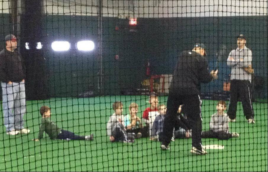 Batting practice is conducted at Tri-City Teamworks, and the facility also has room for soccer, lacrosse, softball and other indoor activities.