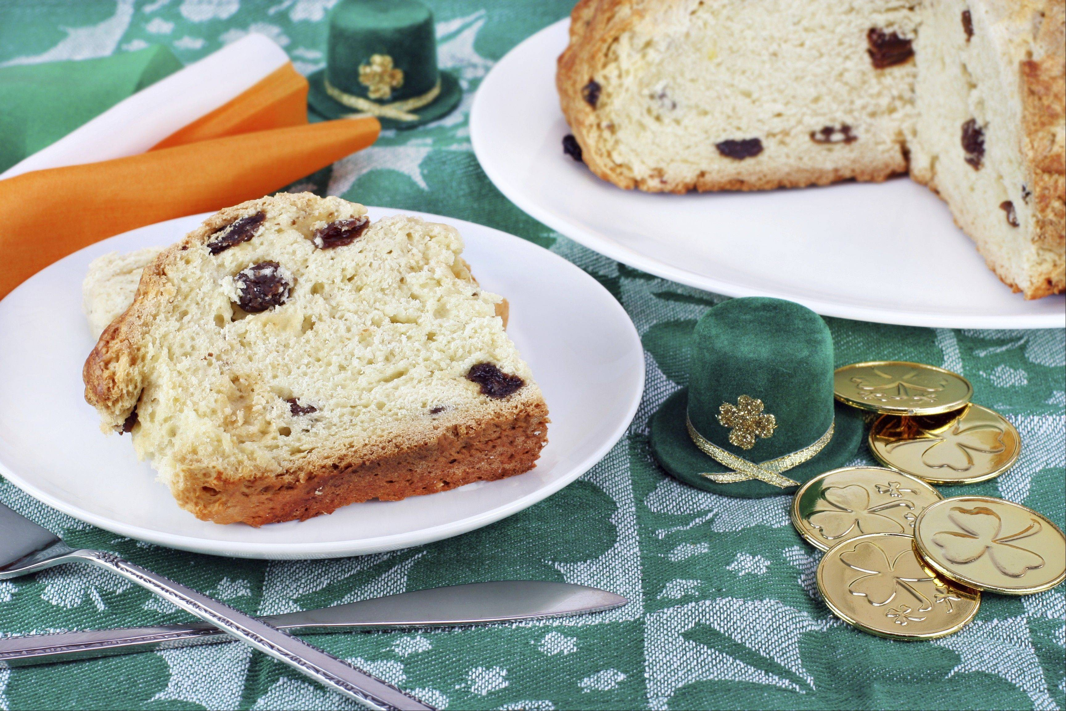 Enjoy Irish soda bread for St. Patrick's Day.
