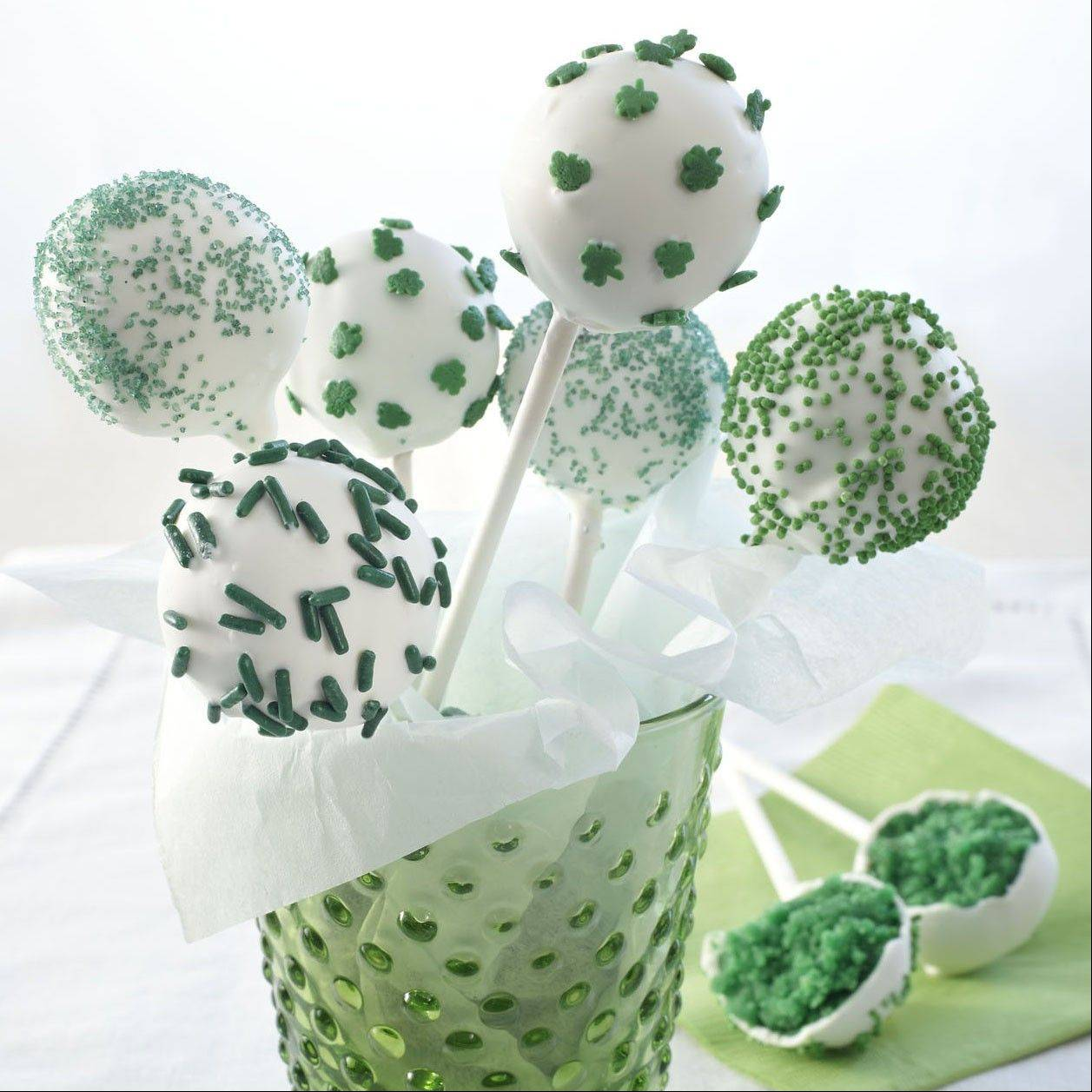 Luck of the Irish Cake Pops