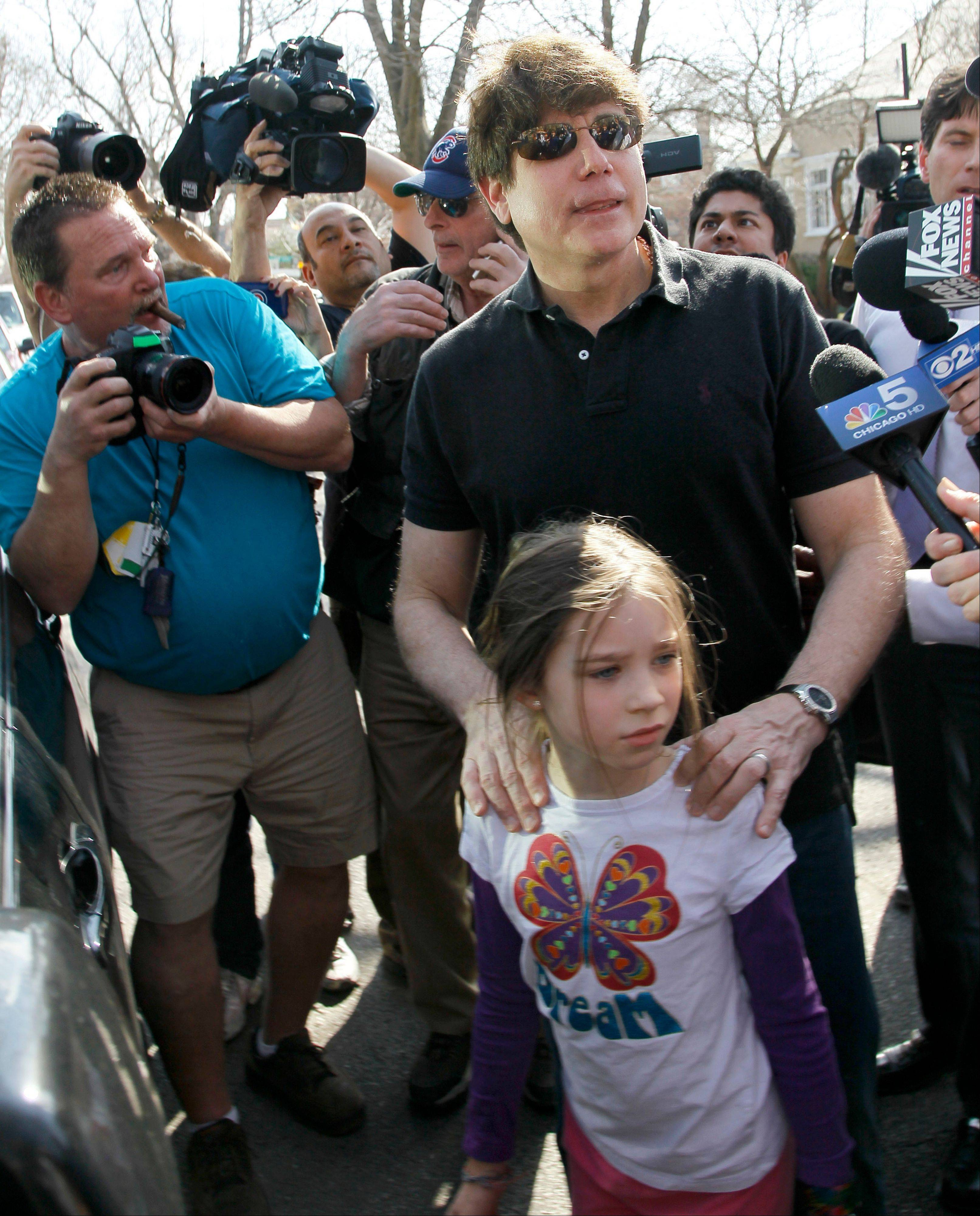 On last day free, Blagojevich gets last word