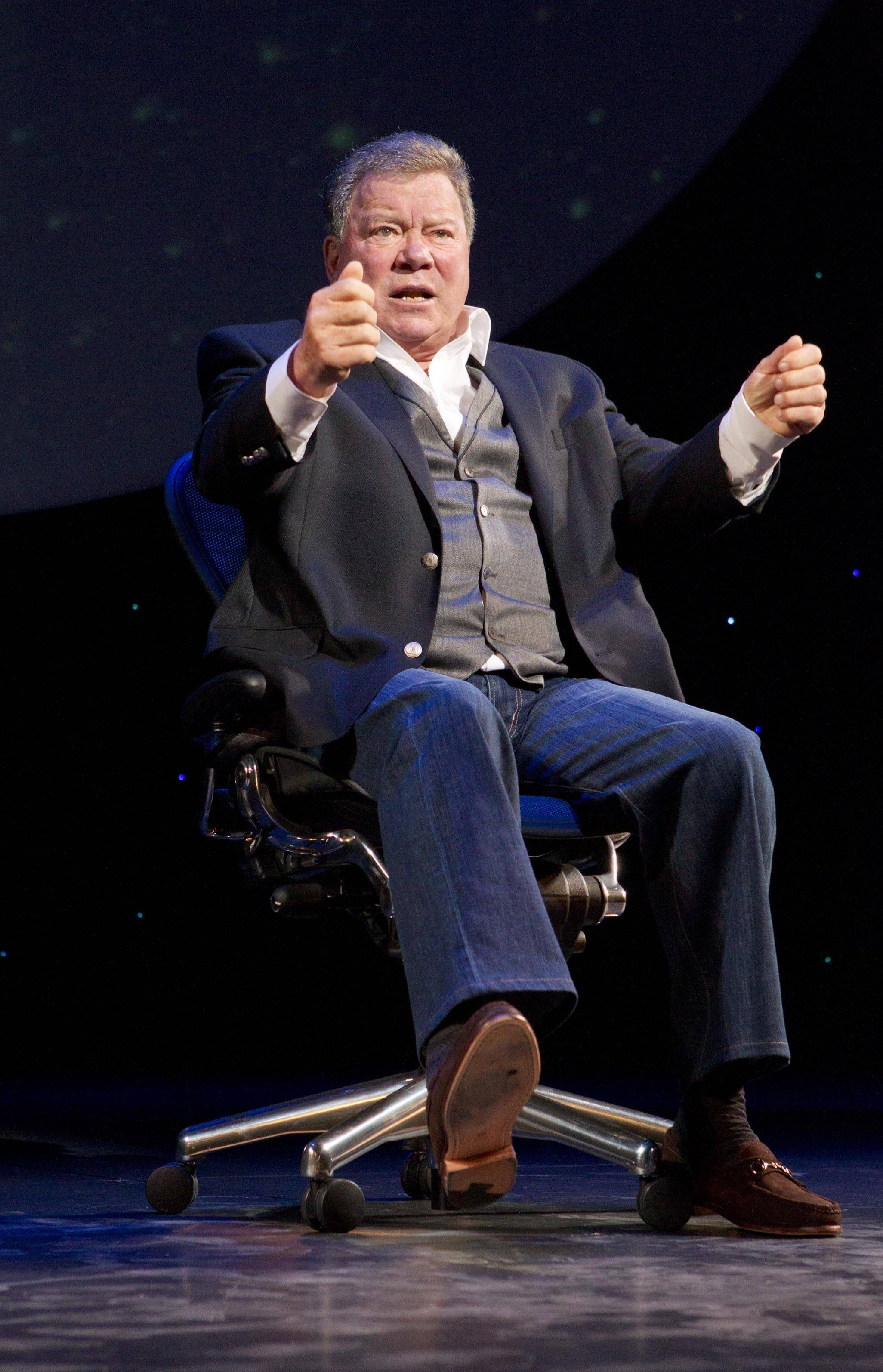 William Shatner brings his one-man show to Chicago tonight.