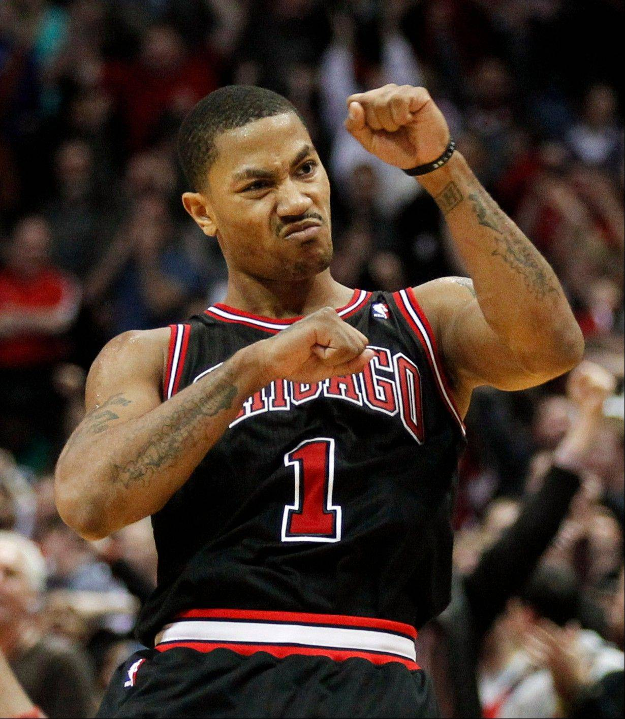 Derrick Rose will not play against Miami tonight at the United Center. Rose may have suffered a groin injury while scoring 32 points in Monday's win over New York.