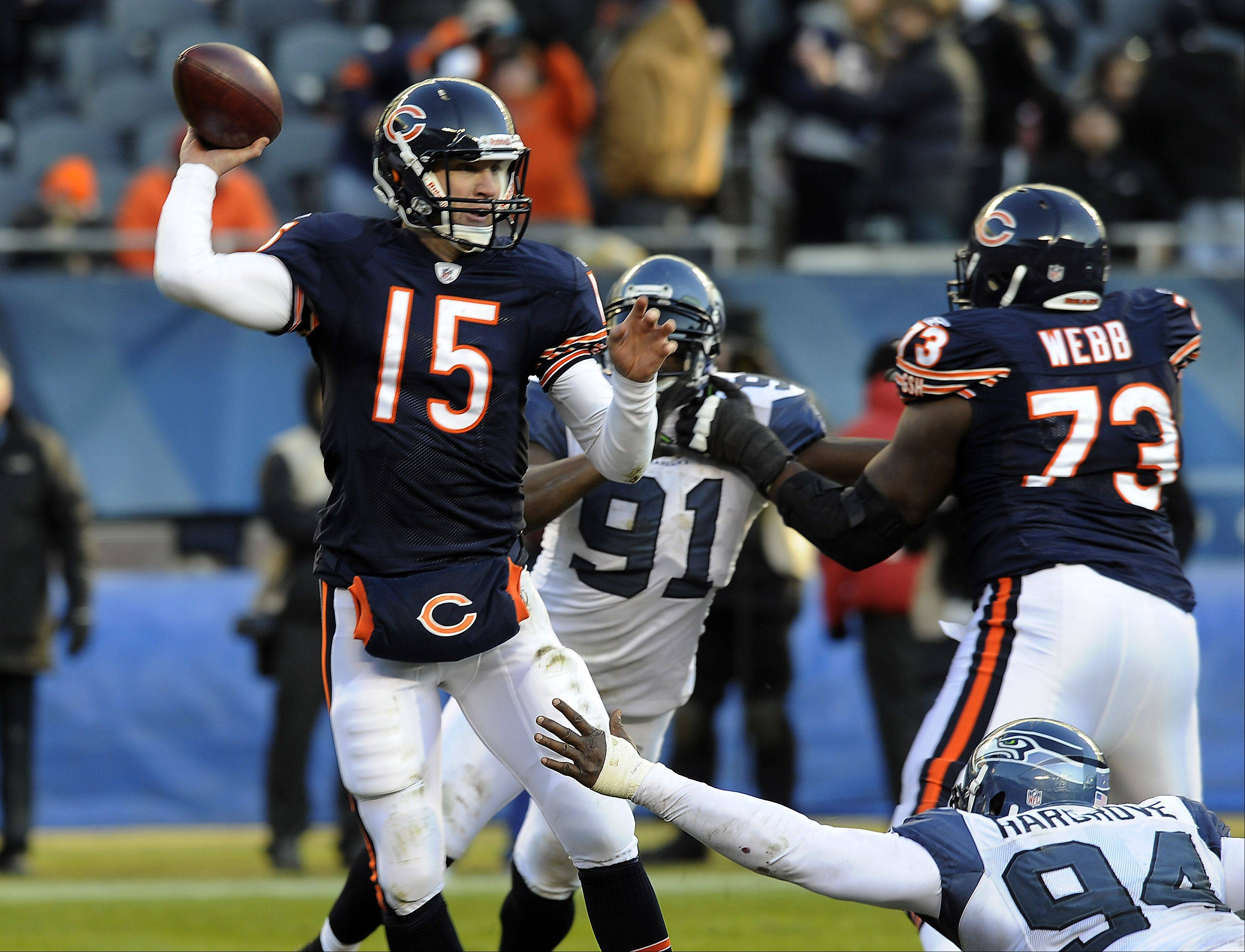 Bears quarterback Josh McCown was signed to a one-year contract Wednesday and will likely compete with Nathan Enderle for the No. 3 quarterback spot on the team.