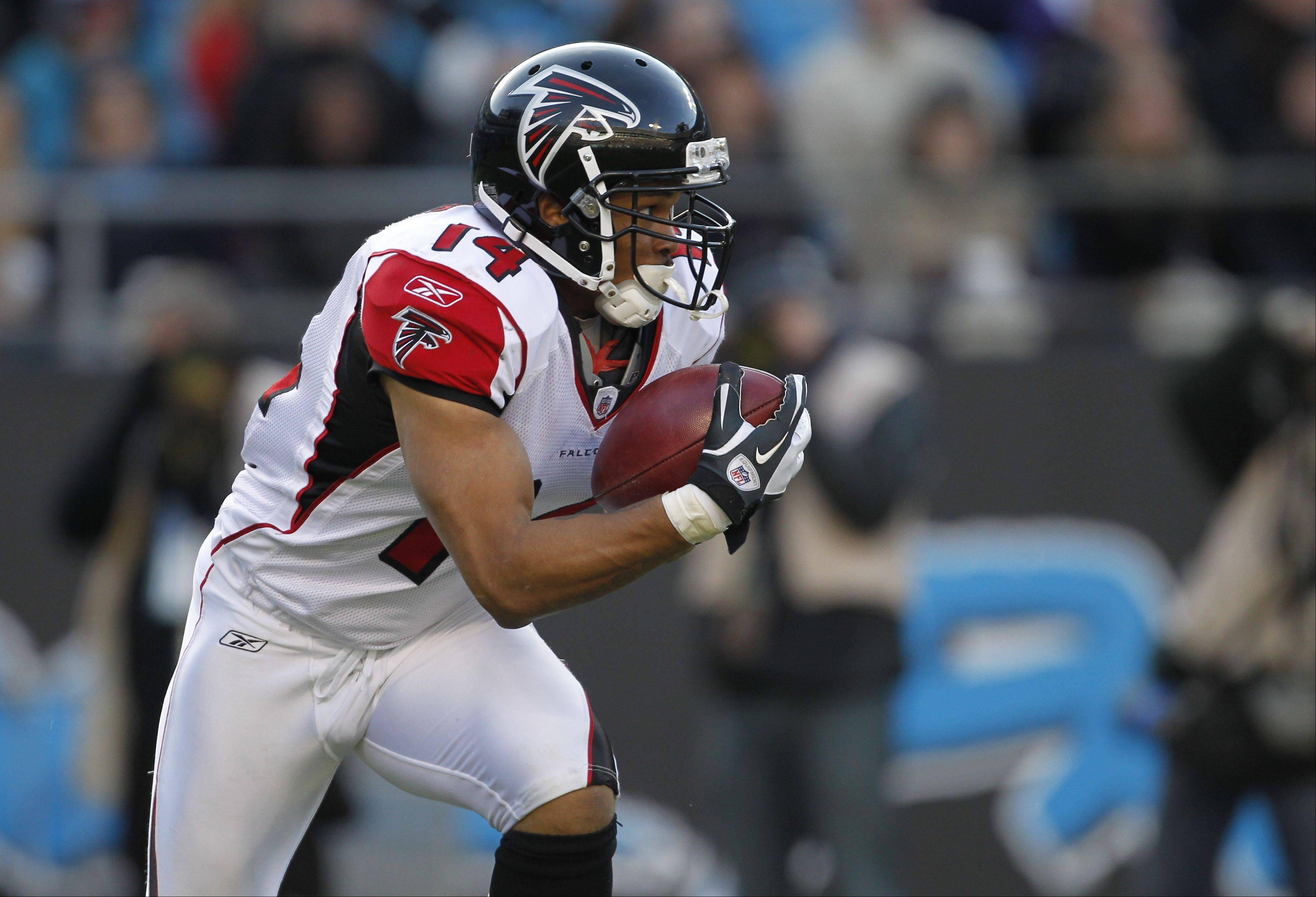 A Pro Bowler on special teams with the Atlanta Falcons, Eric Weems (14) has signed a three-year contract with the Chicago Bears. A good tackler, Weems also excelled as a kick returner.