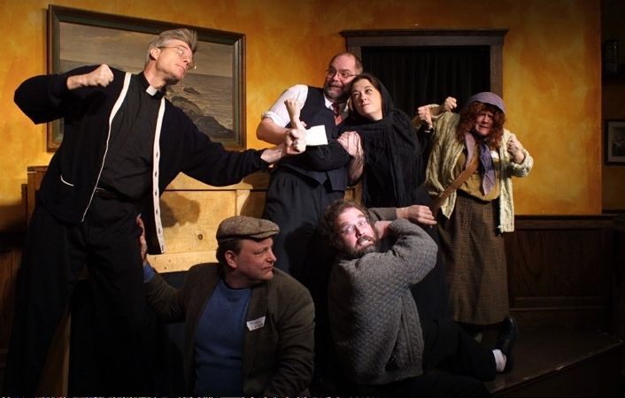 "Metropolis Performing Arts Centre in Arlington Heights stages ""Flanagan's Wake"" Saturday."