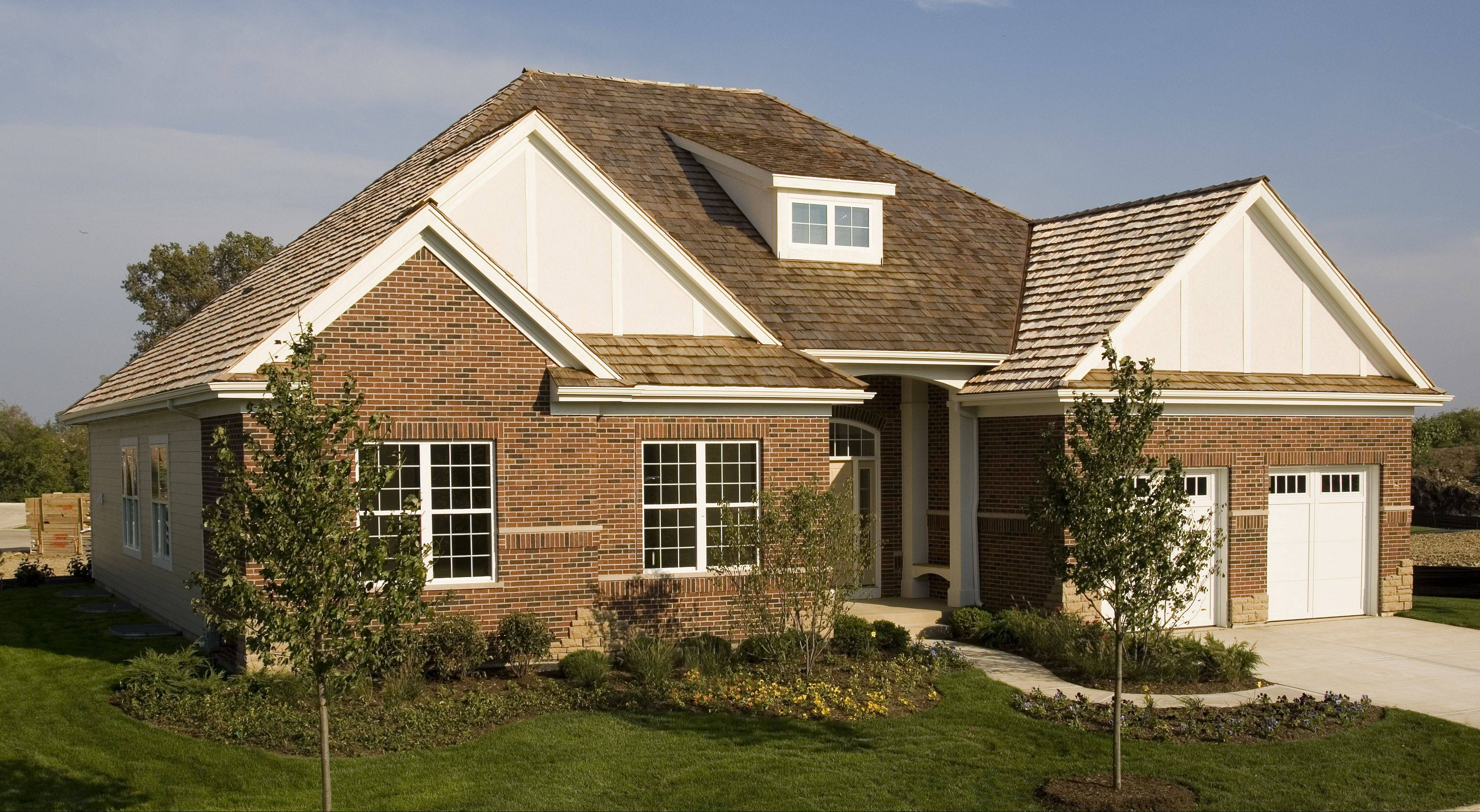 Meritus Homes is building ranch houses at two suburban communities, Creekside at Inverness Ridge and Ravenna in Long Grove.