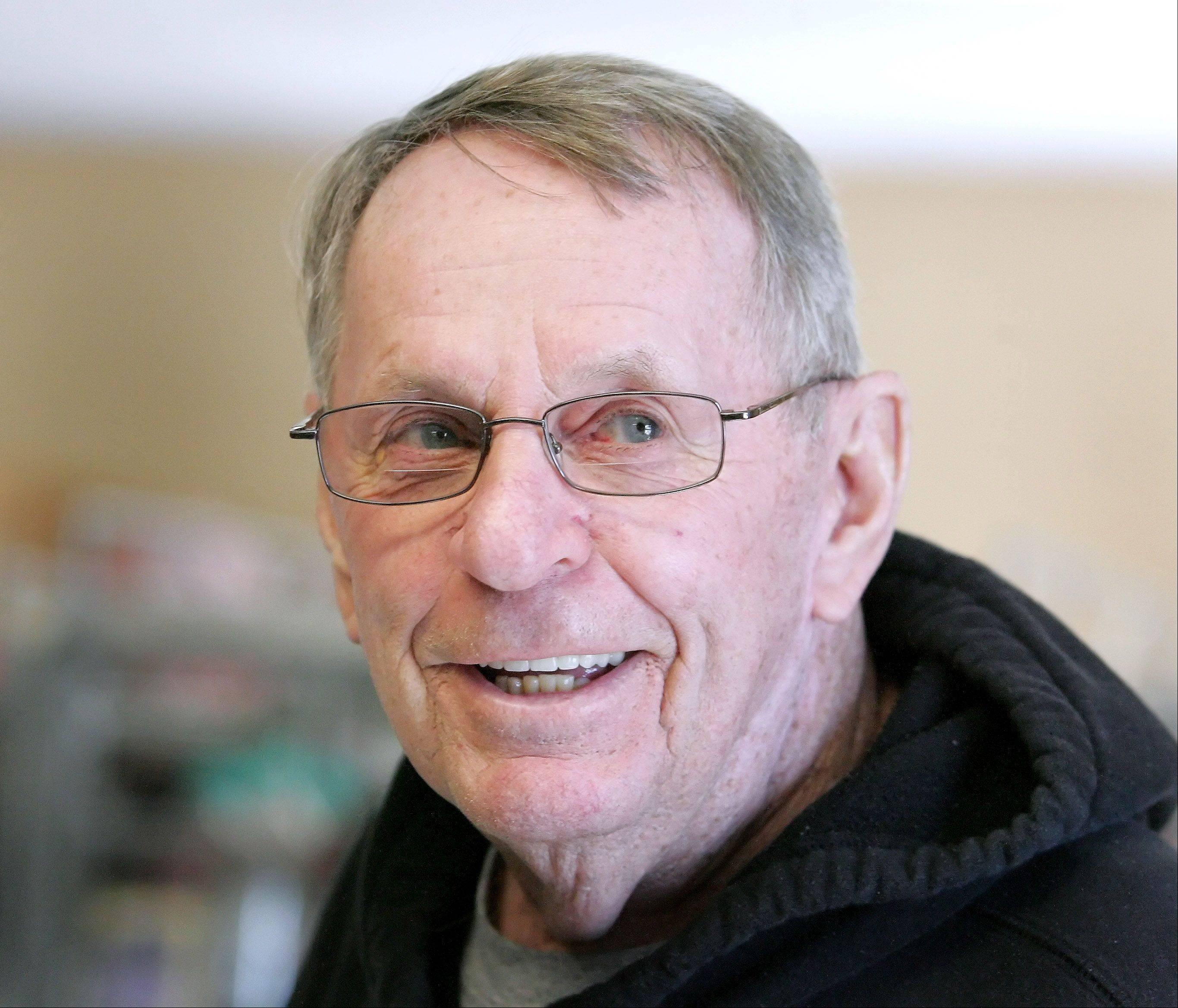 Don McGowan has been volunteering for six years at the People's Resource Center in Wheaton.