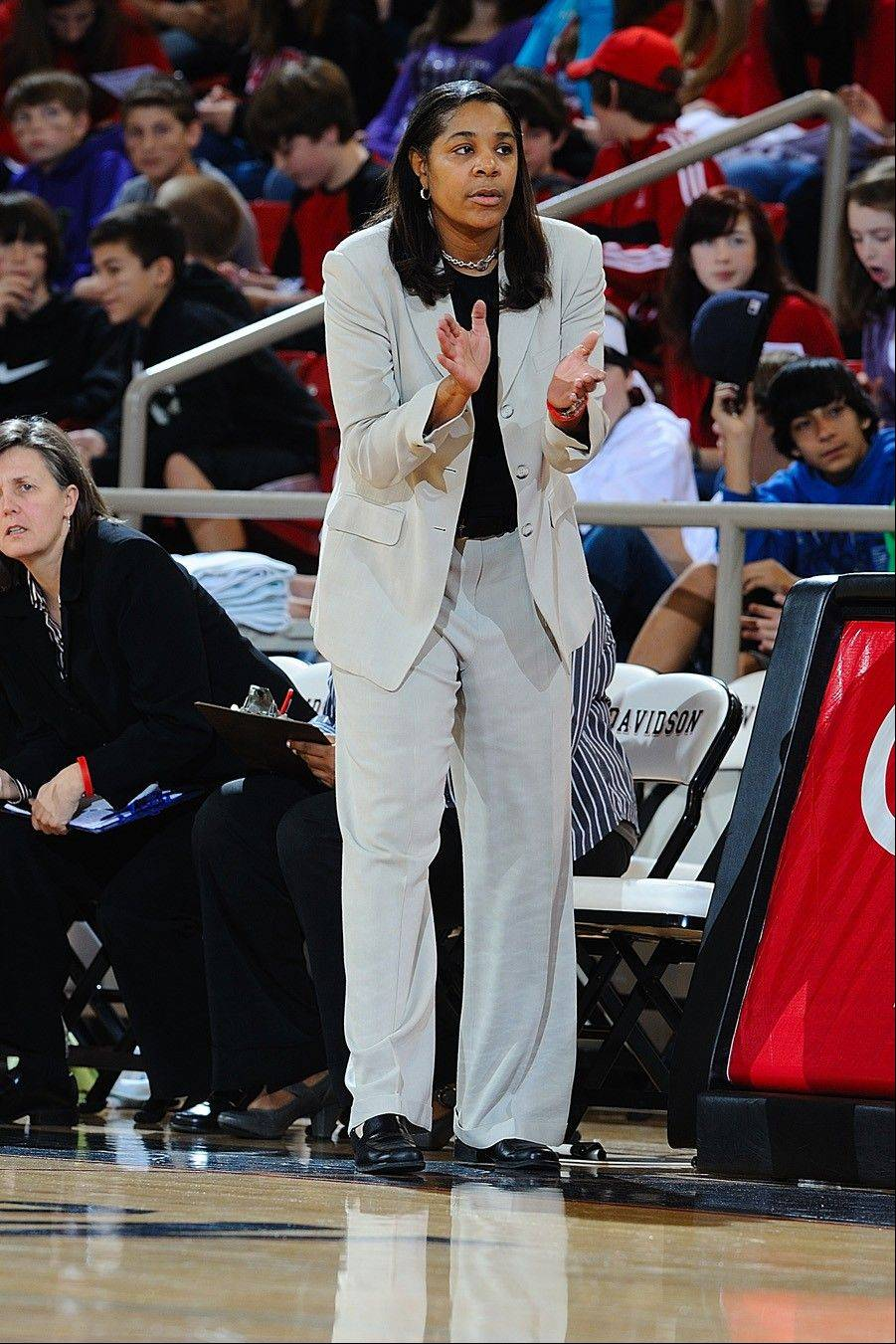 Davidson head coach Michele Savage, a former player at Northwestern, led her women's basketball team to 22 wins this season.